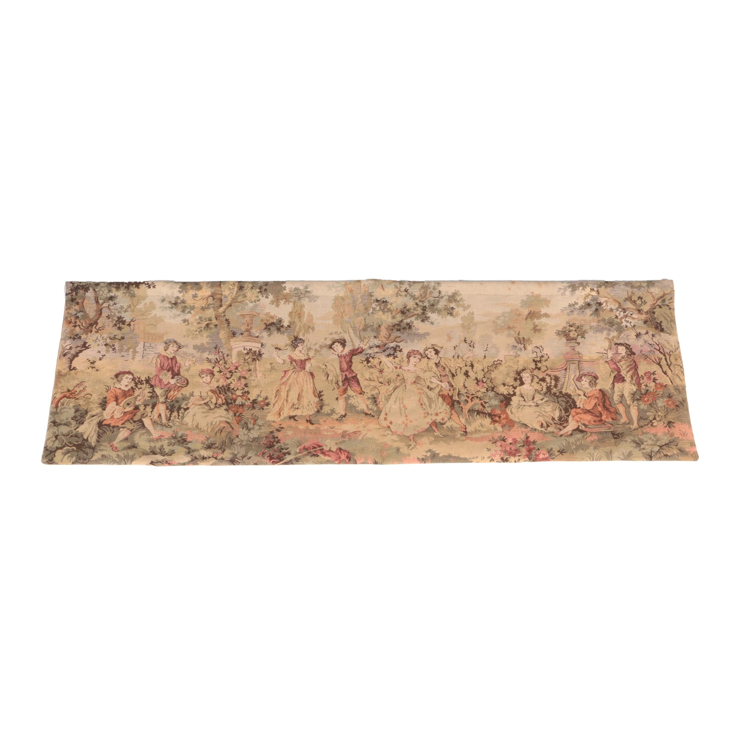 Woven Flanders Style Pictorial Tapestry Wall Hanging