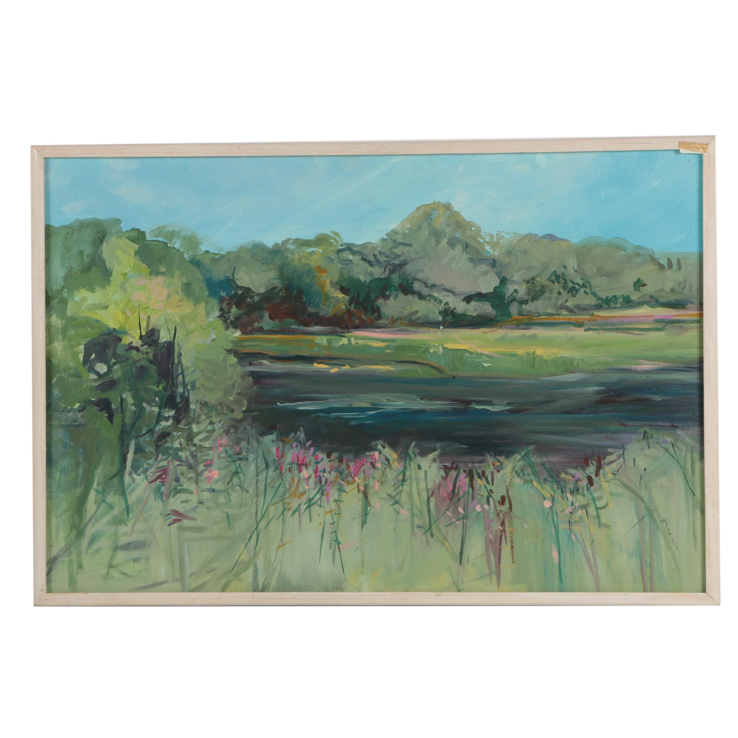 "Gracia Dayton Oil Painting ""Marshes"""