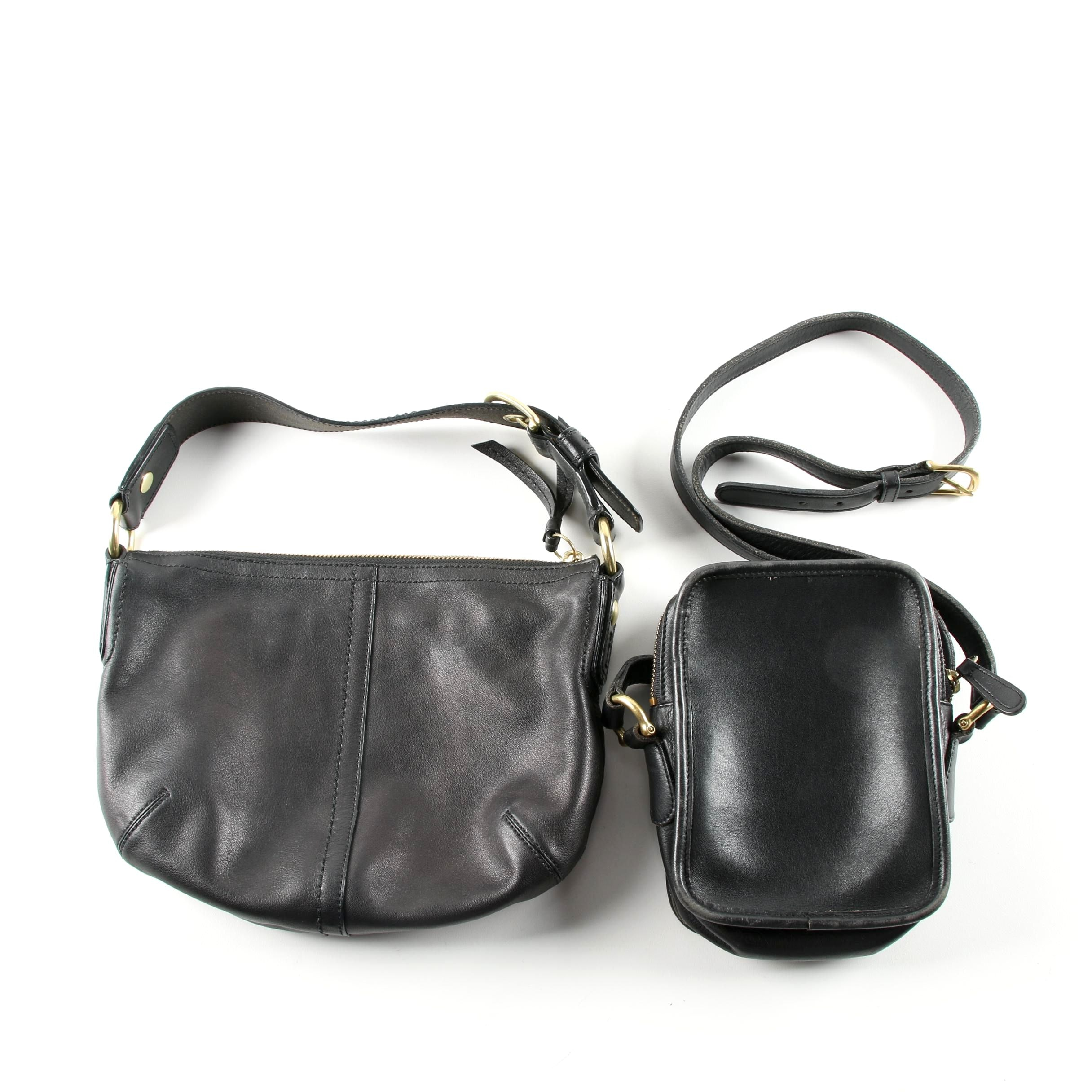 Coach Soho Black Leather Hobo Bag and Vintage Kit Bag