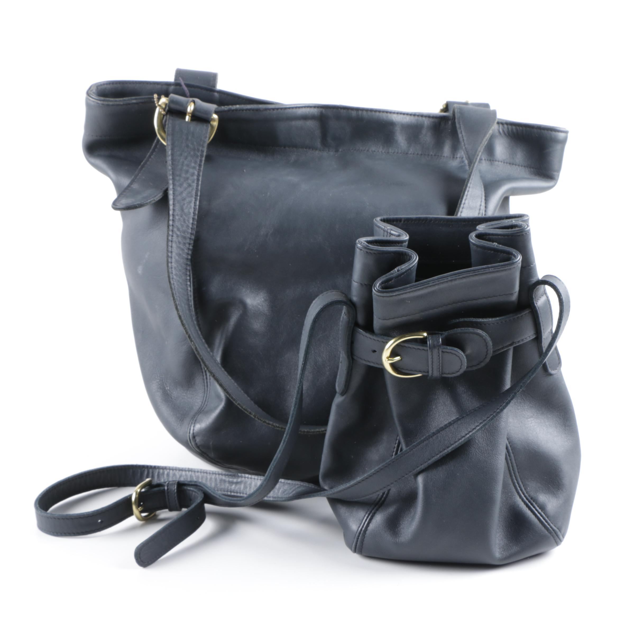 ... australia vintage coach navy leather belted pouch and waverly bag fae04  dcee9 911867e0a8e82