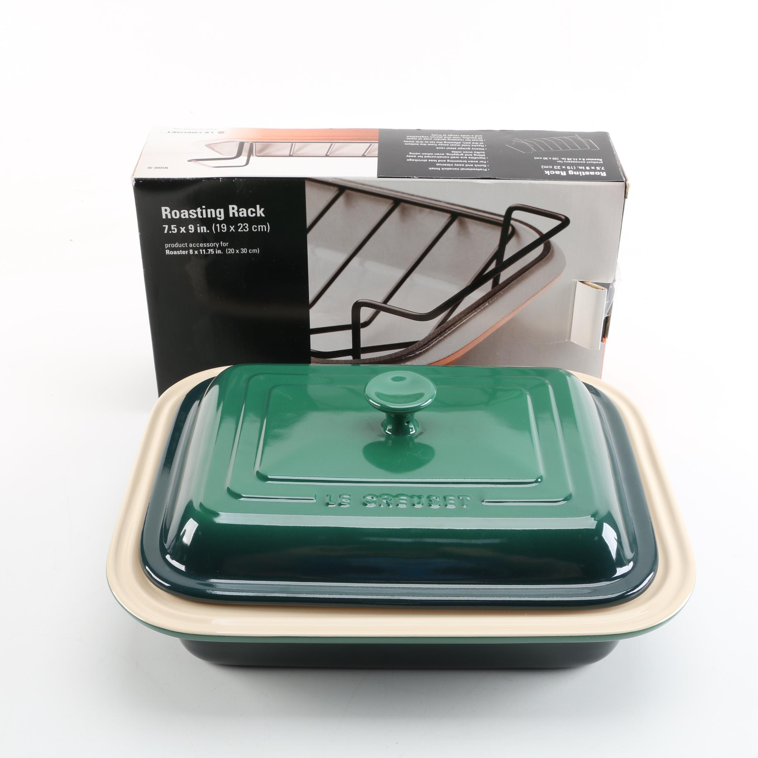 Le Creuset Roasting Rack and Baking Dish