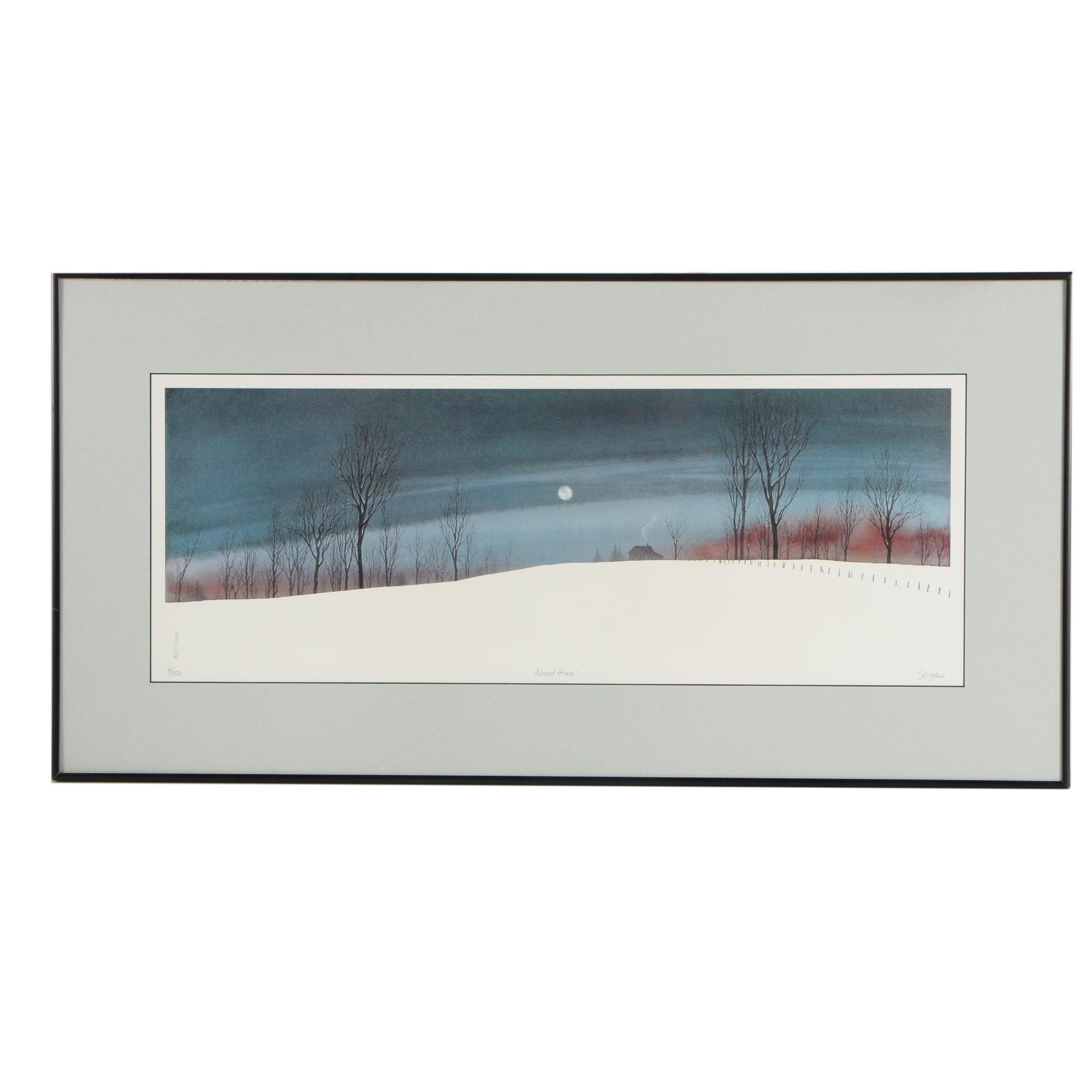 "John Sovjani Limited Edition Offset Lithograph ""Almost Home"""