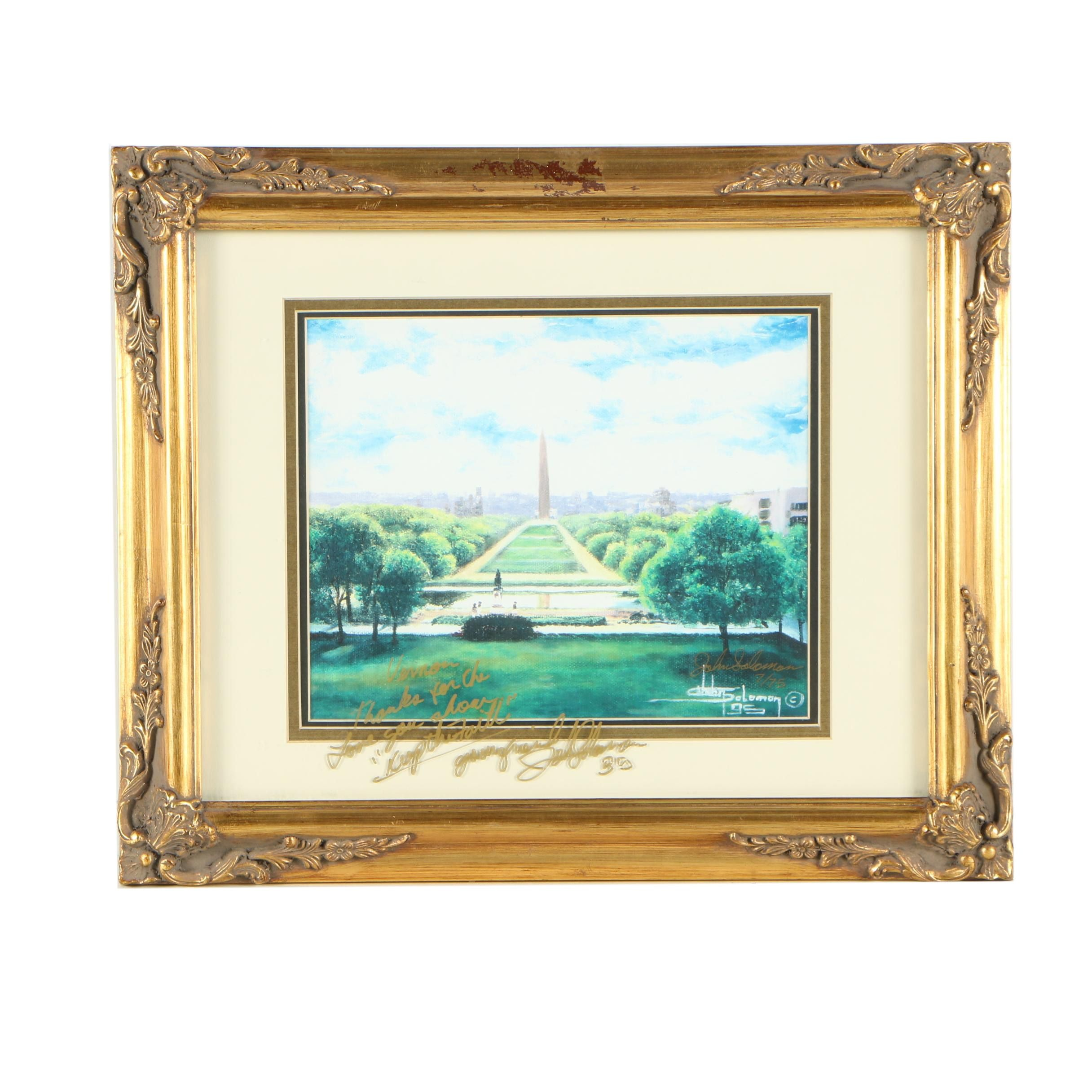 John Solomon Sandridge Limited Edition Giclée of Washington Monument