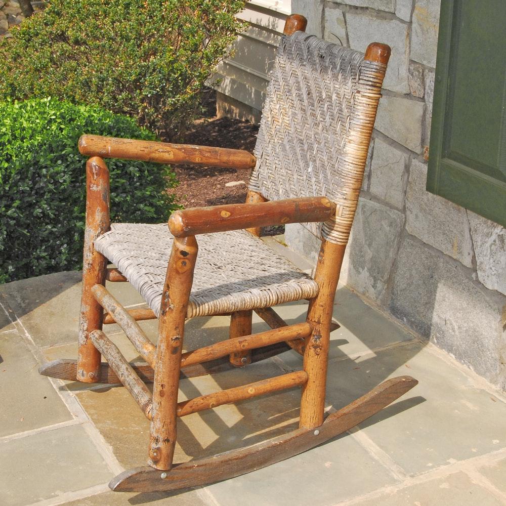 Vintage Rustic Rocking Chair
