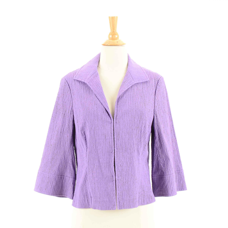 Women's Lafayette 148 Purple Textured Jacket