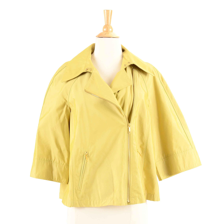 Women's Lafayette 148 Chartreuse Zip Front Jacket