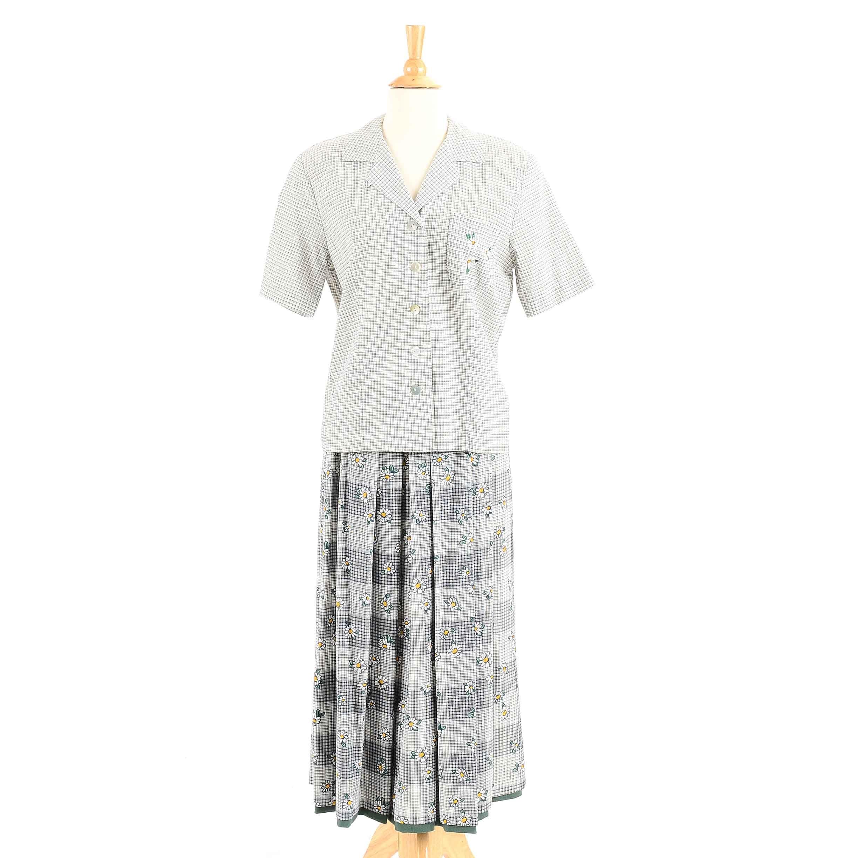 Women's Geiger Matching Blouse and Skirt Ensemble