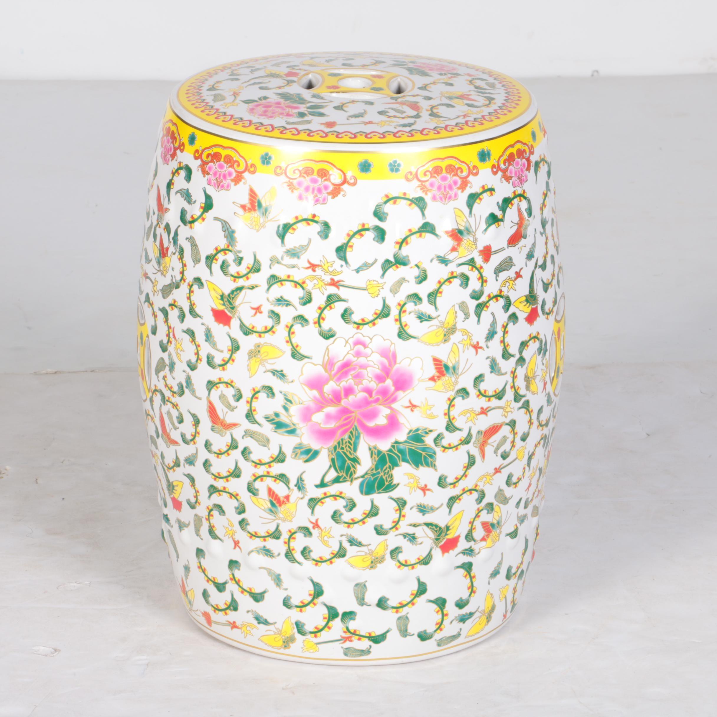 Chinese Decorative Ceramic Garden Stool