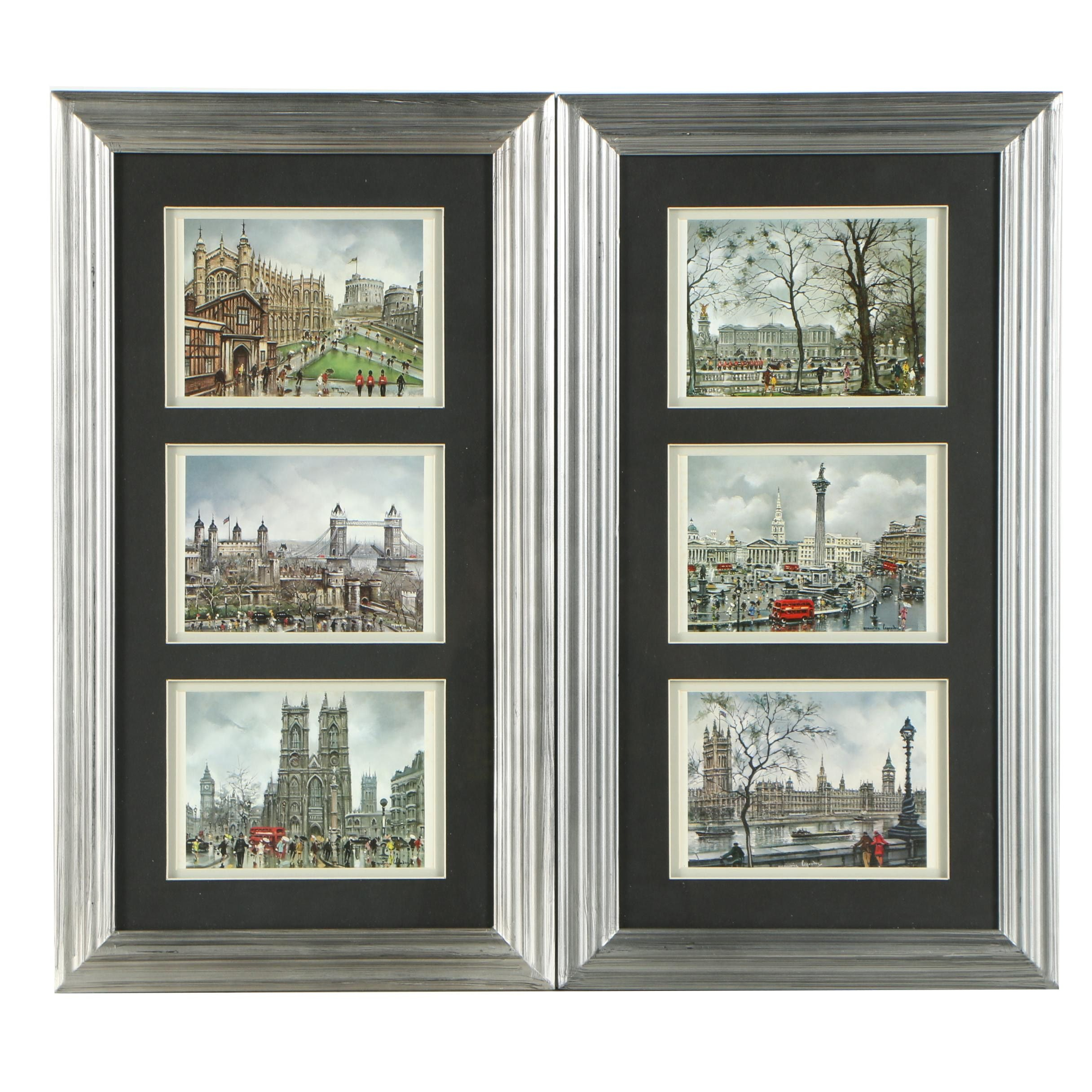 Offset Lithographs After Maurice Legendre of London Cityscapes