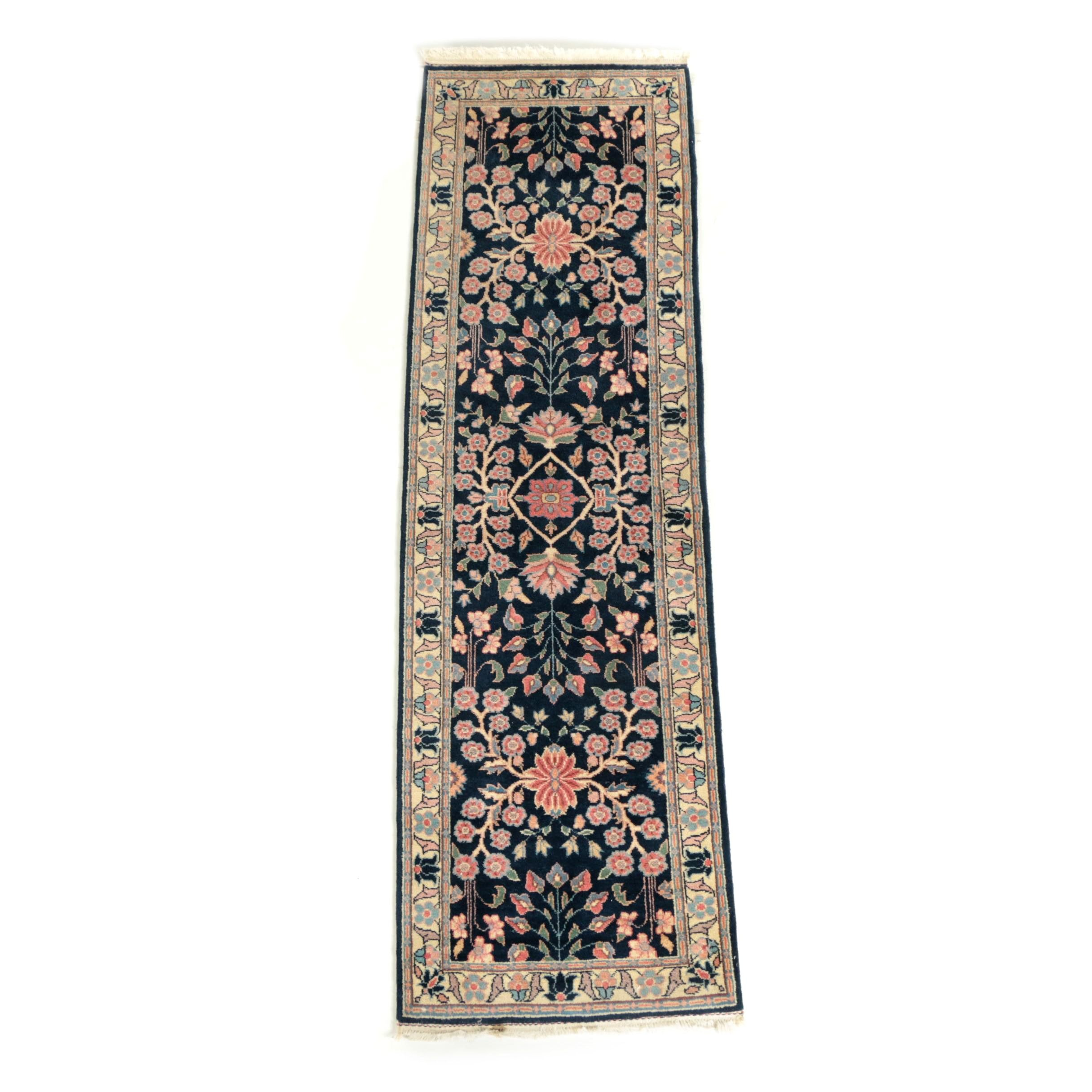 Hand-Knotted Romanian-Persian Carpet Runner