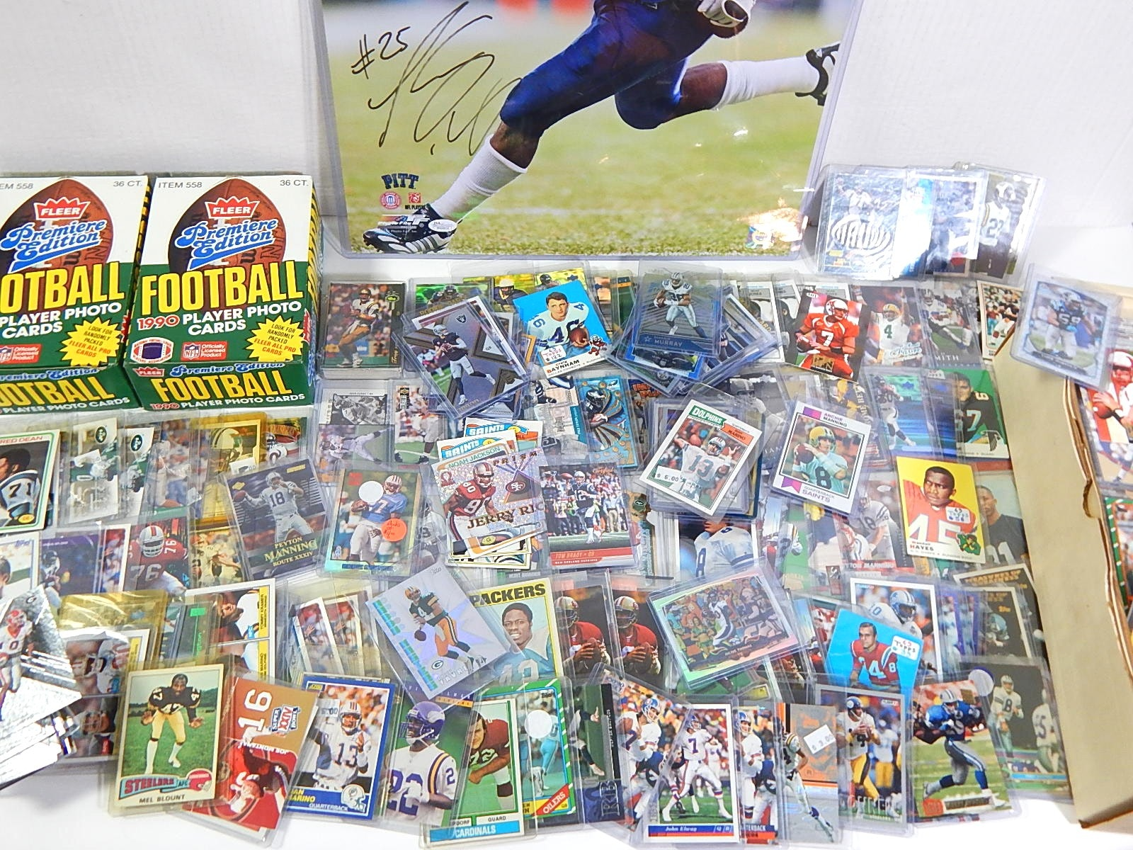 Large Football Card and Memorabilia Collection