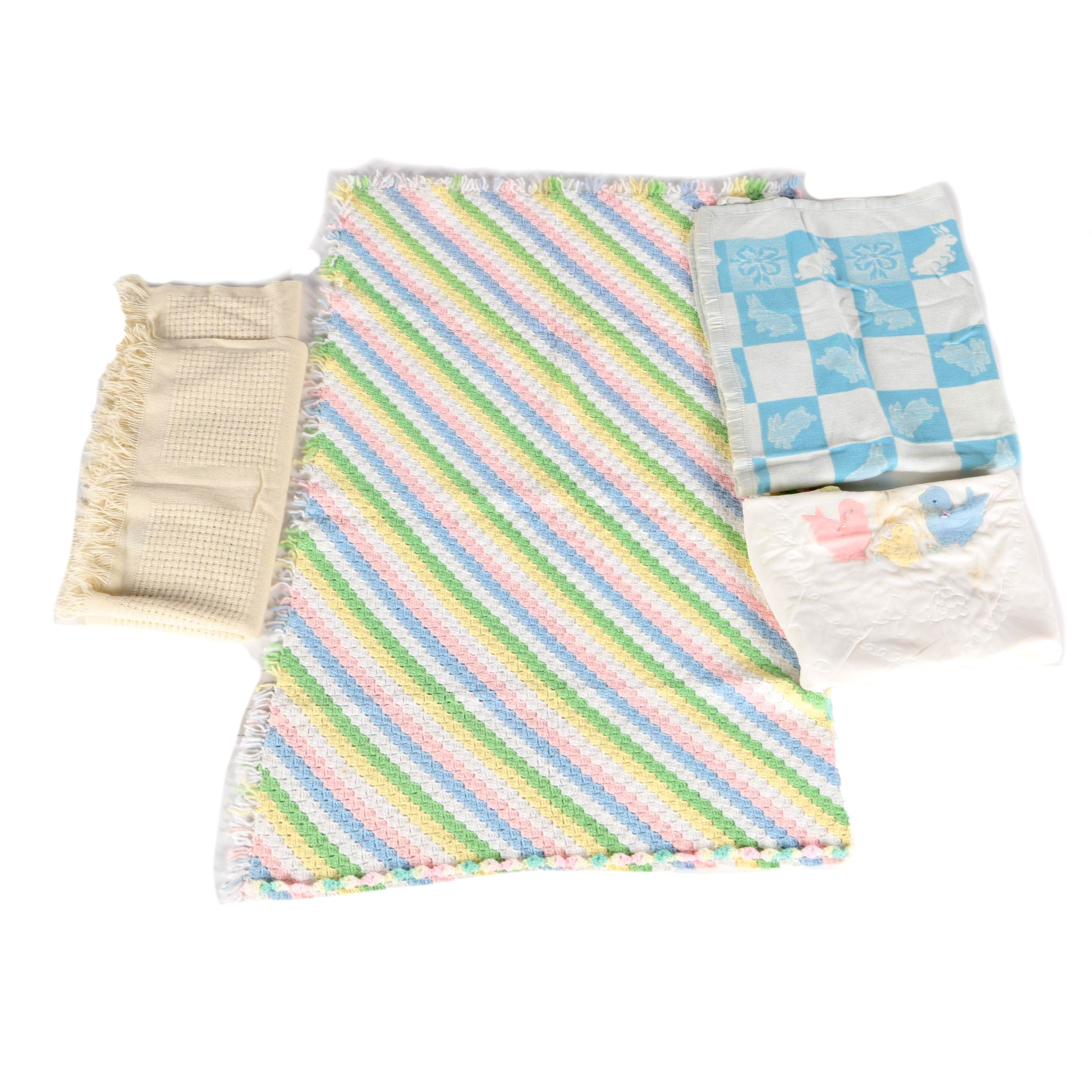 Vintage Baby Blankets Featuring Faribo