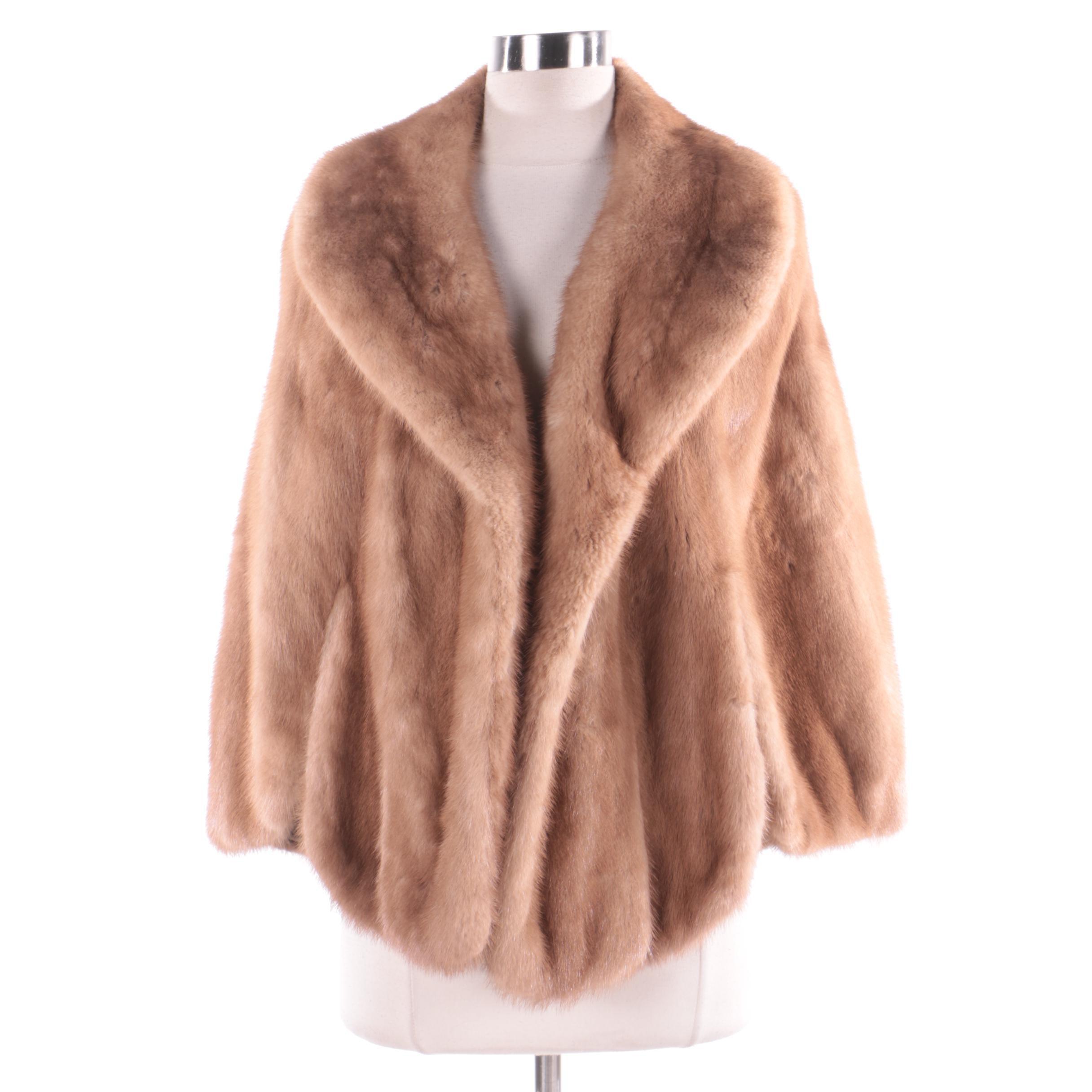 Women's Vintage Barnes Furriers Mink Fur Capelet