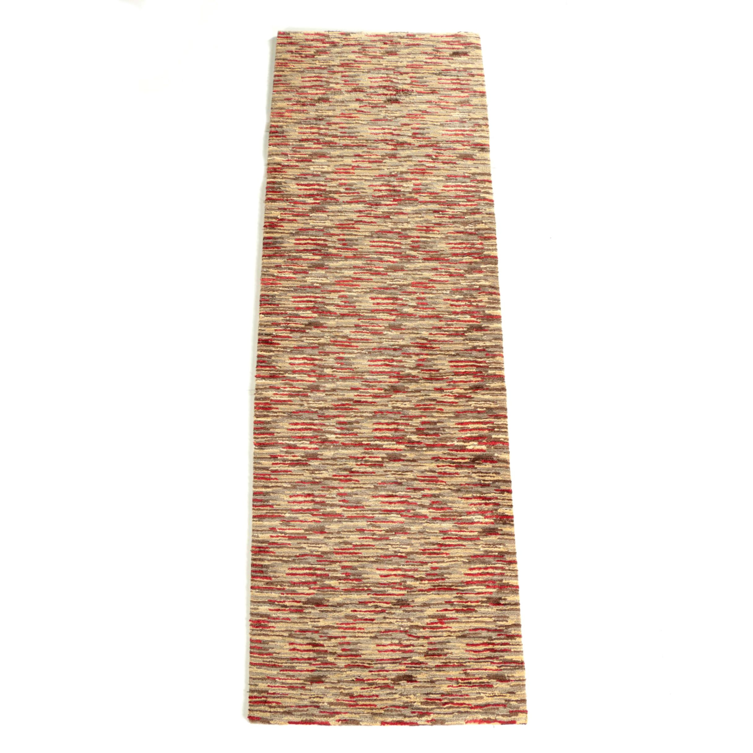 Hand-Knotted Rug Guy Galleriez Contemporary Wool Carpet Runner