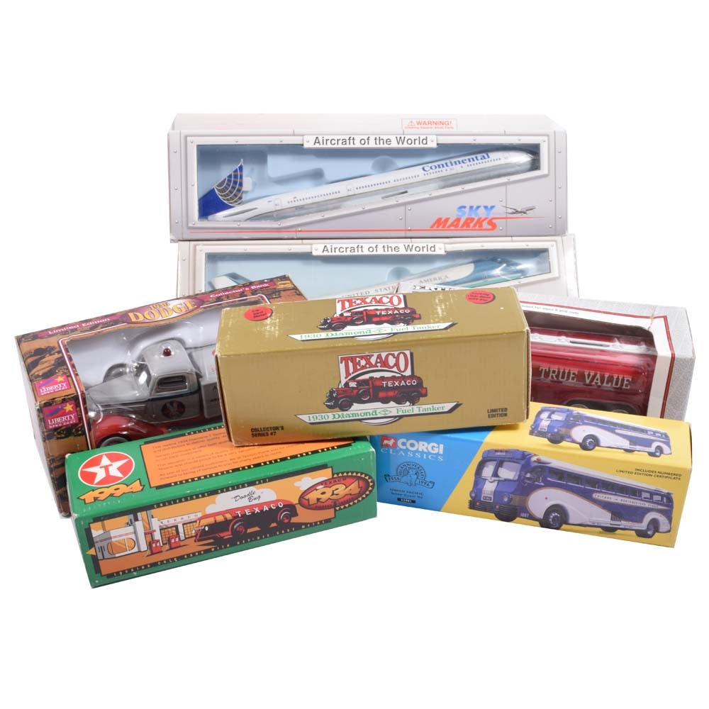 Collectible Model Car and Plane Collection