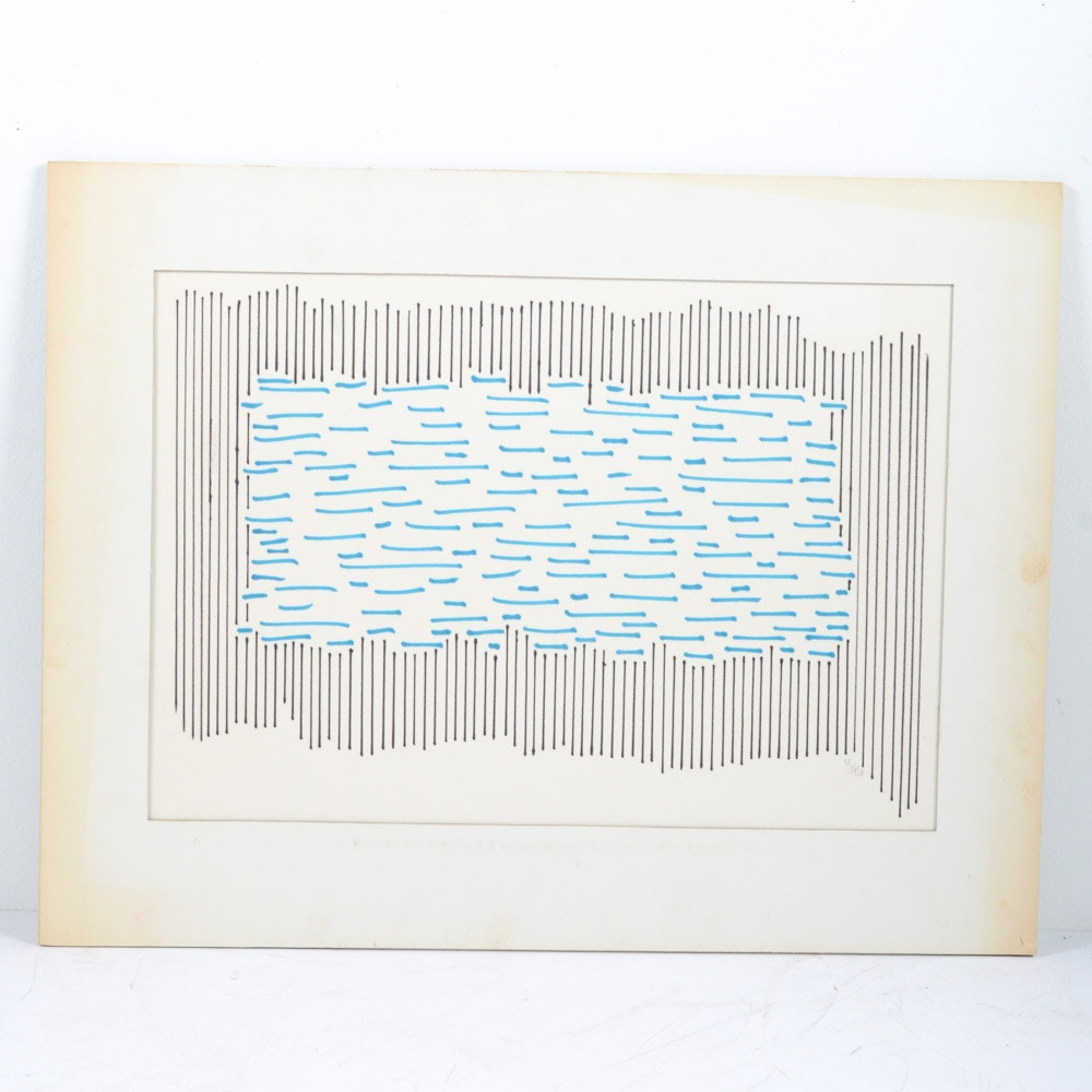 "James Yoko Ink on Paper ""Ripple Mark"""