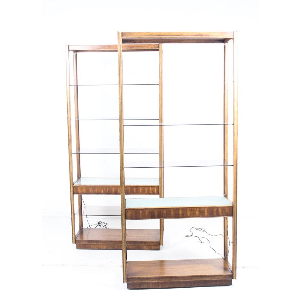 Vintage Display Shelves