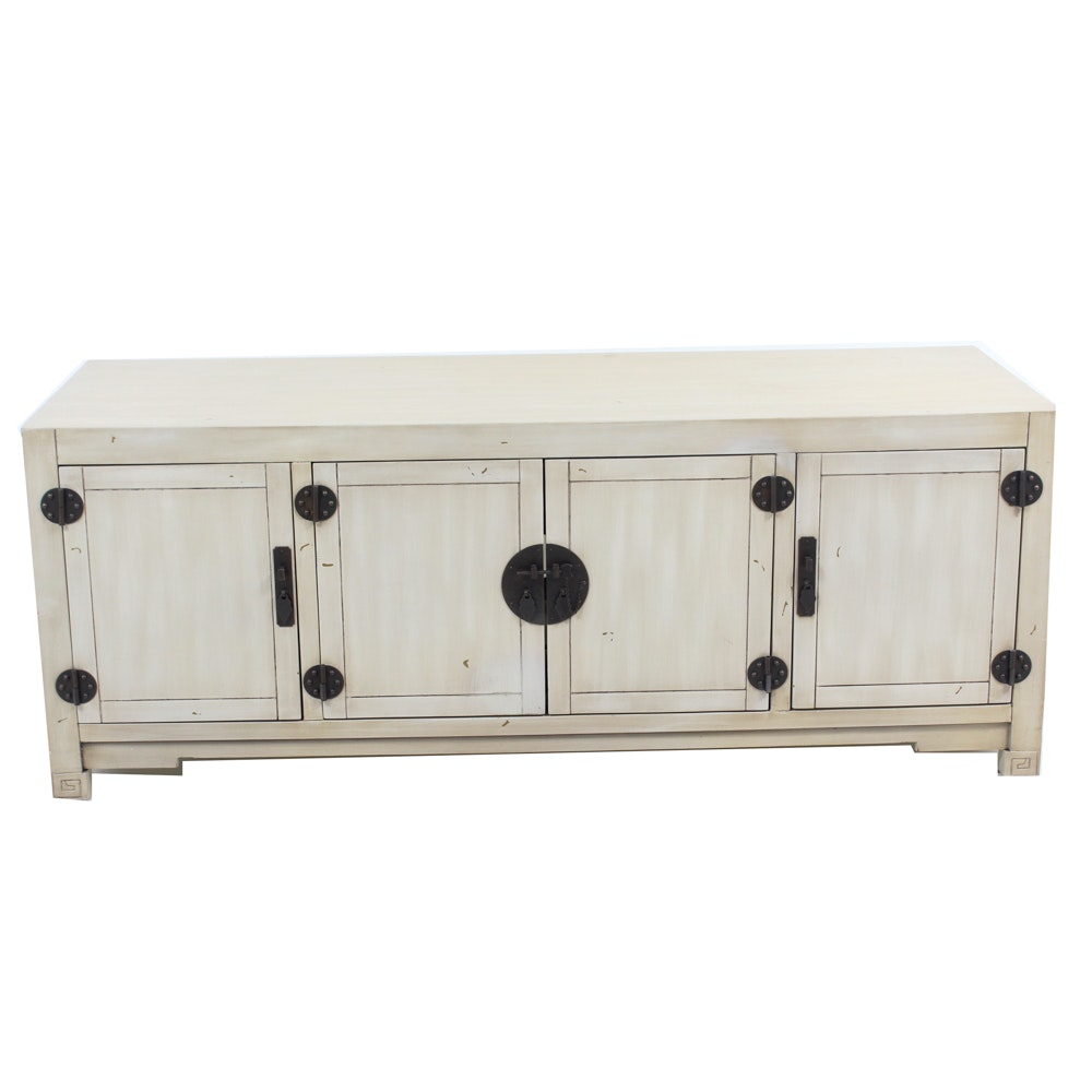 Chinese Inspired White TV Stand from Pier 1