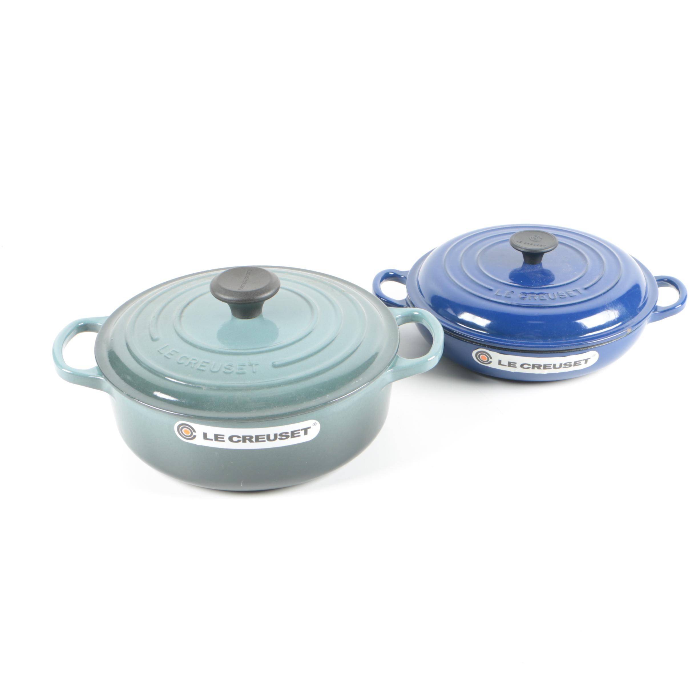 Le Creuset Enameled Cast Iron Braiser and Dutch Oven with Lids