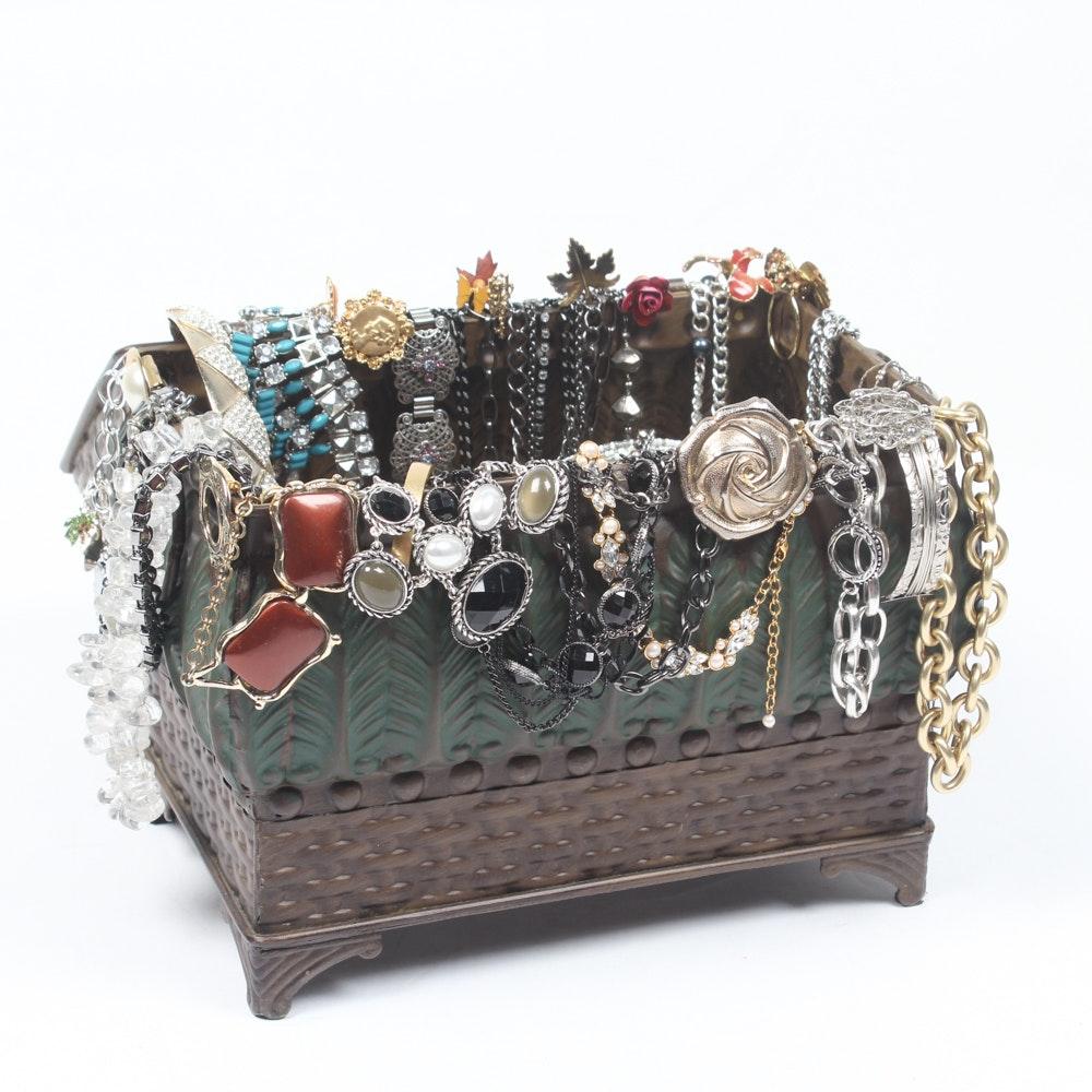 Jewelry Chest of Costume Jewelry