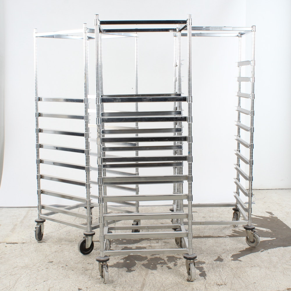 Commercial Metal Shelving for Pans or Trays