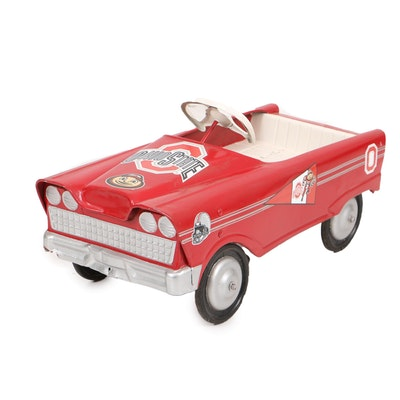 Painted Iron Ohio State Themed Kid's Pedal Car