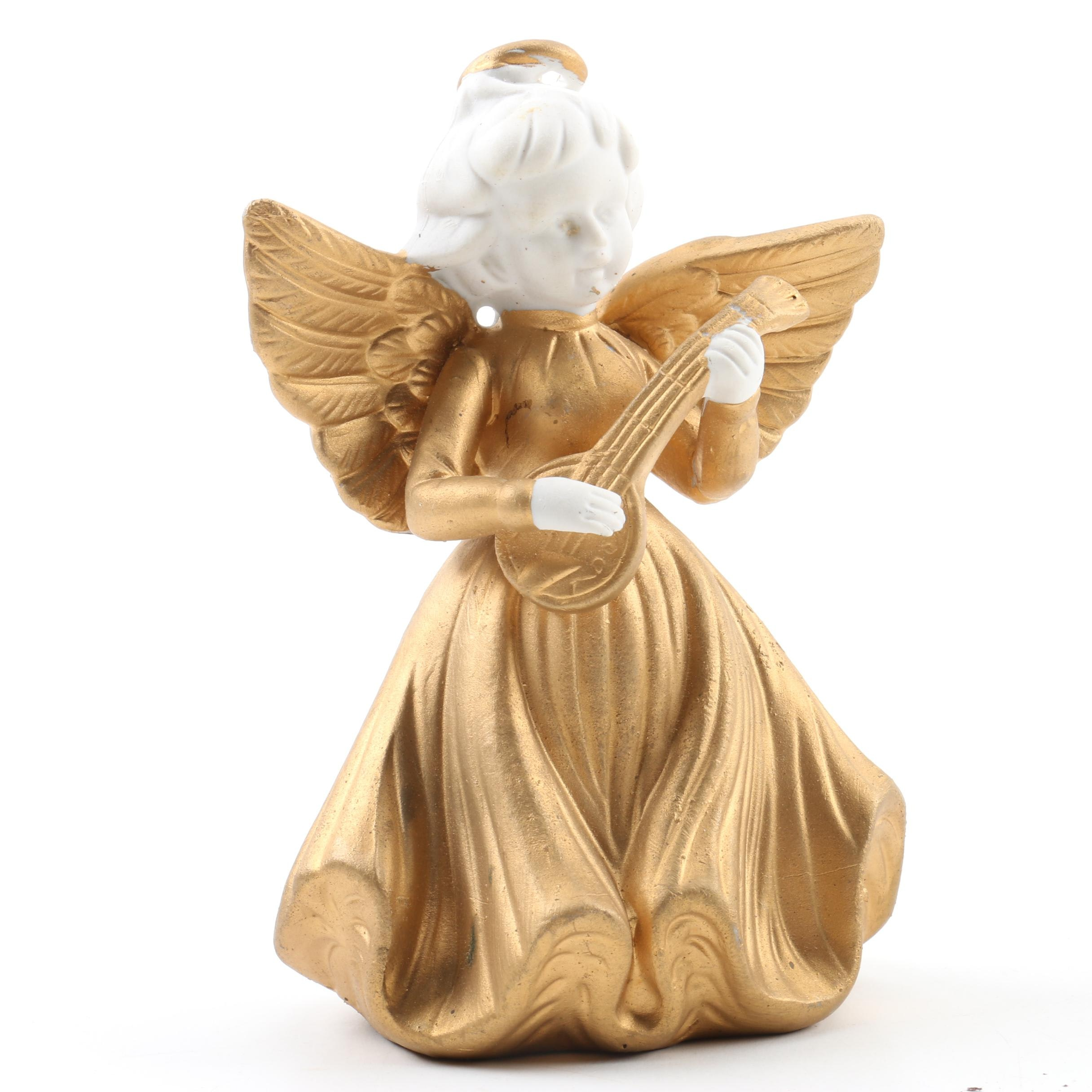 Hand-Painted Porcelain Angel Figurine by Lenwile China Ardalt