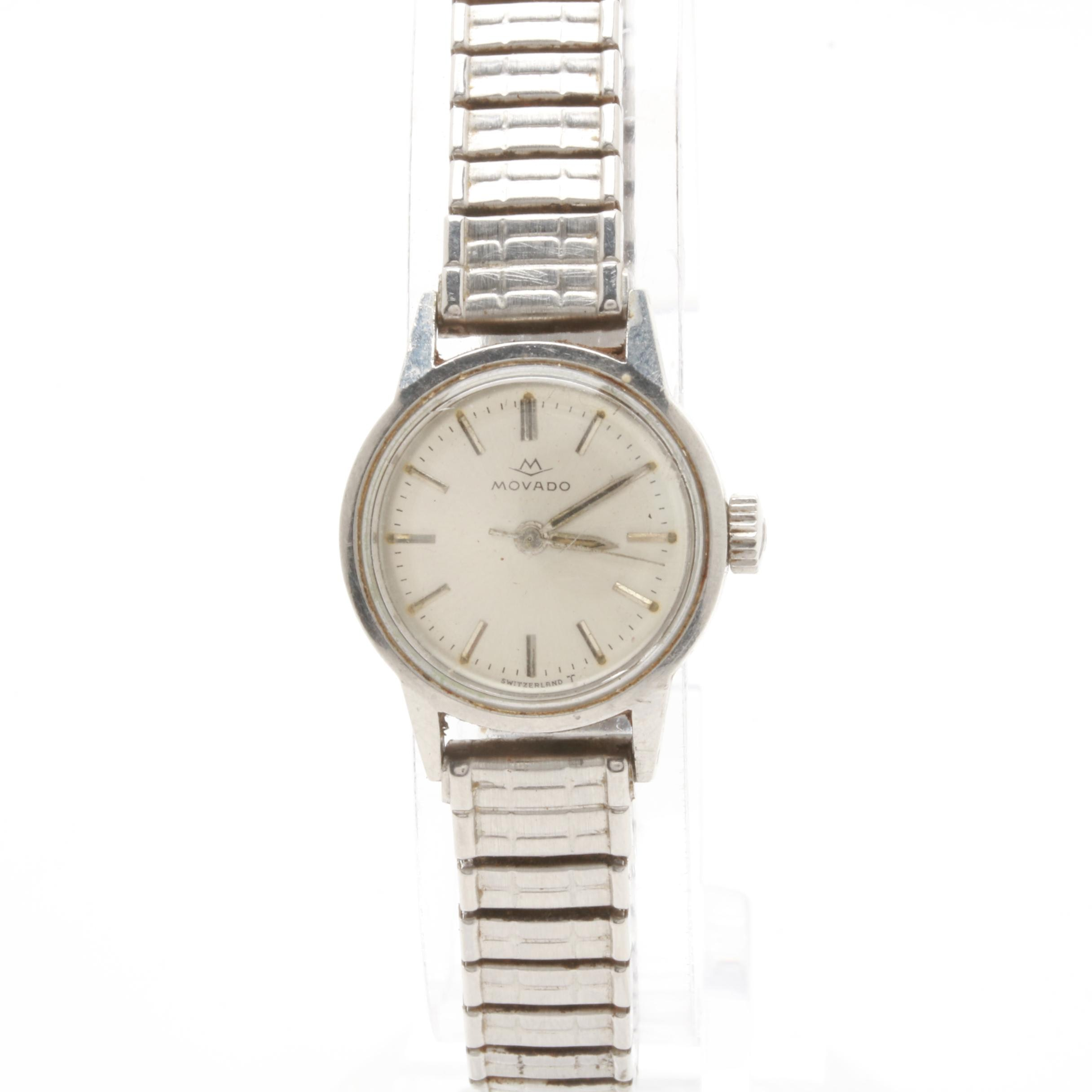 Movado Stainless Steel Expansion Wristwatch
