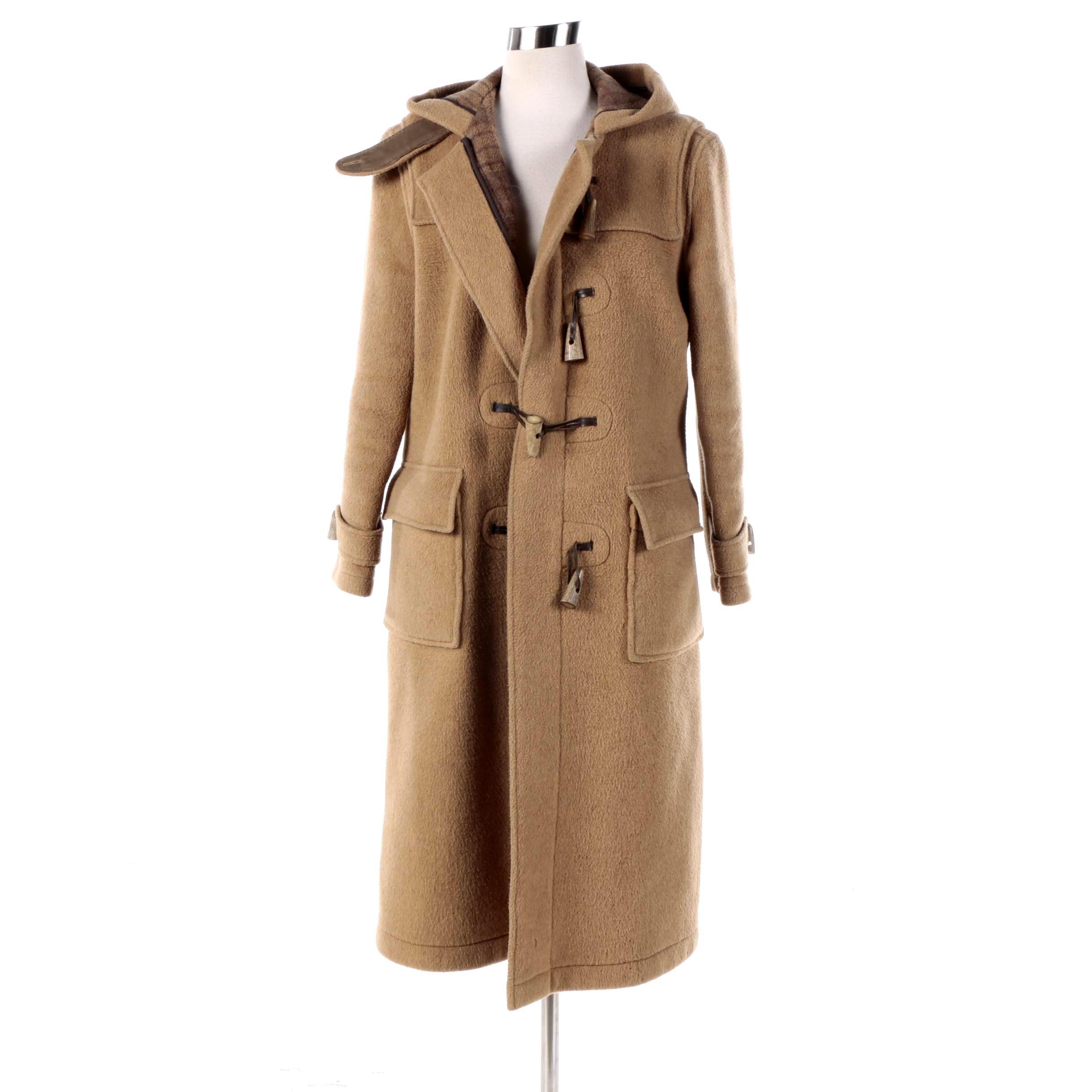 Women's Vintage Tibbett of England Tan Wool Toggle Coat