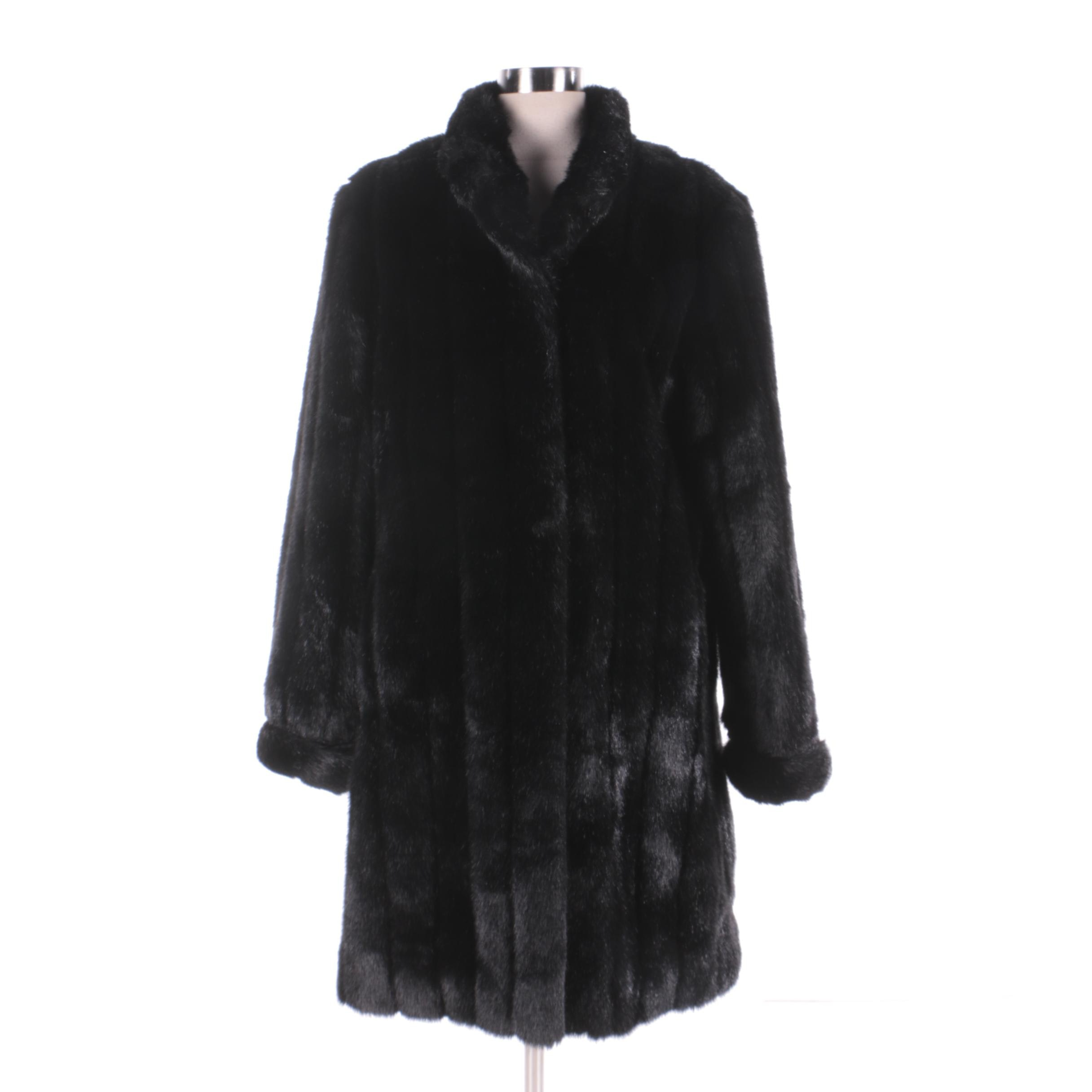Women's Donna Salyers' Fabulous Furs Black Faux Fur Coat
