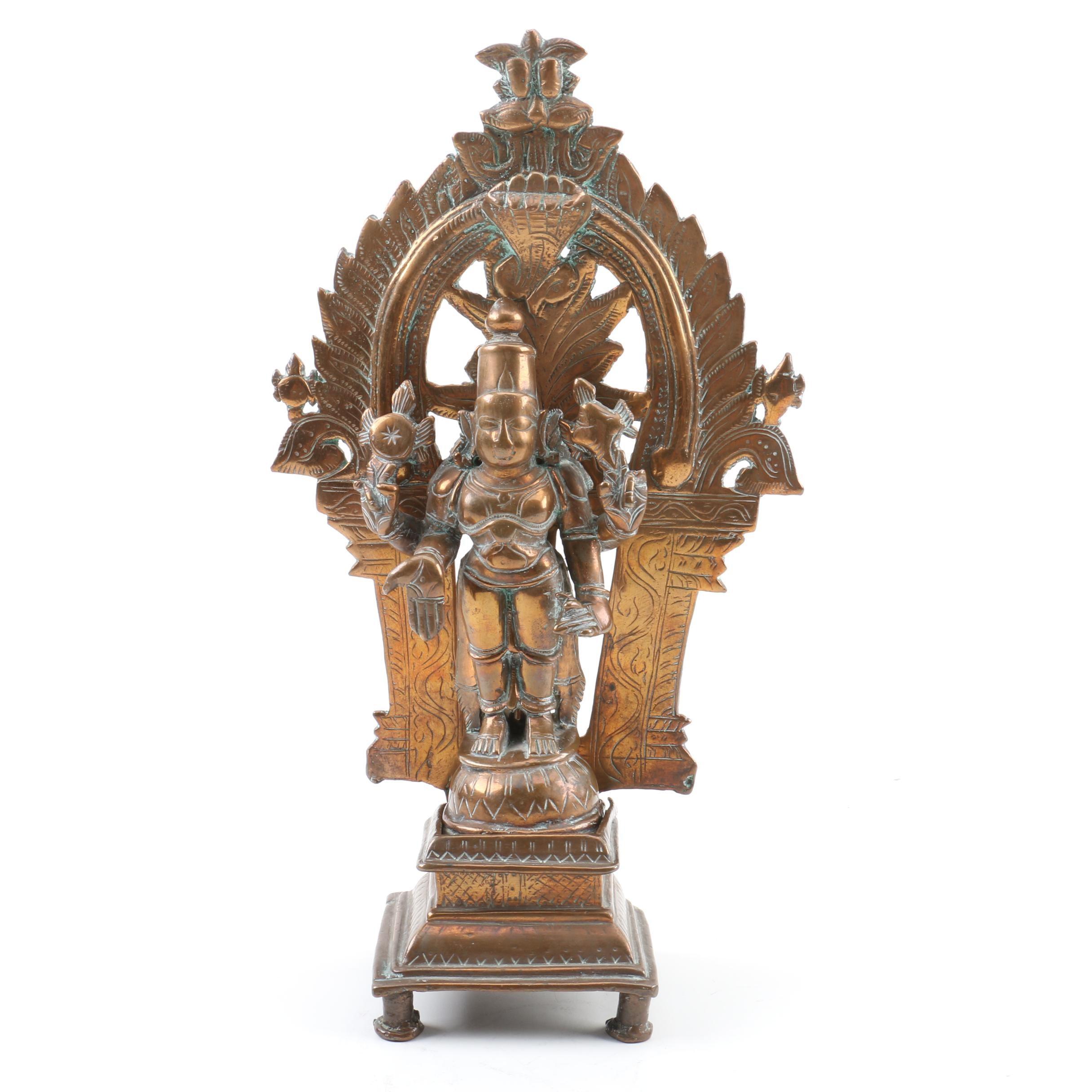 Indian Bronze Lakshmi Statue