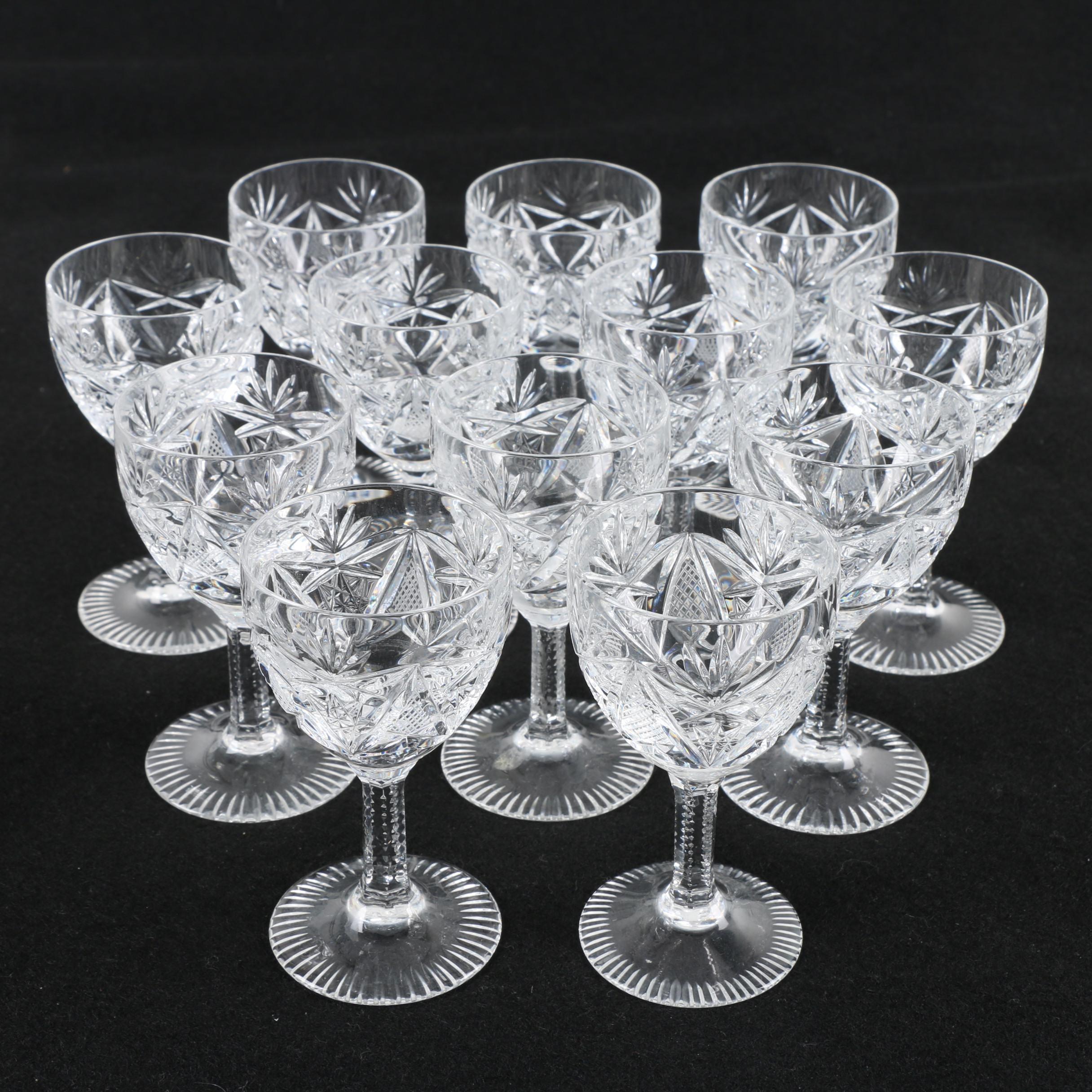 Cut Crystal Cordial Glasses