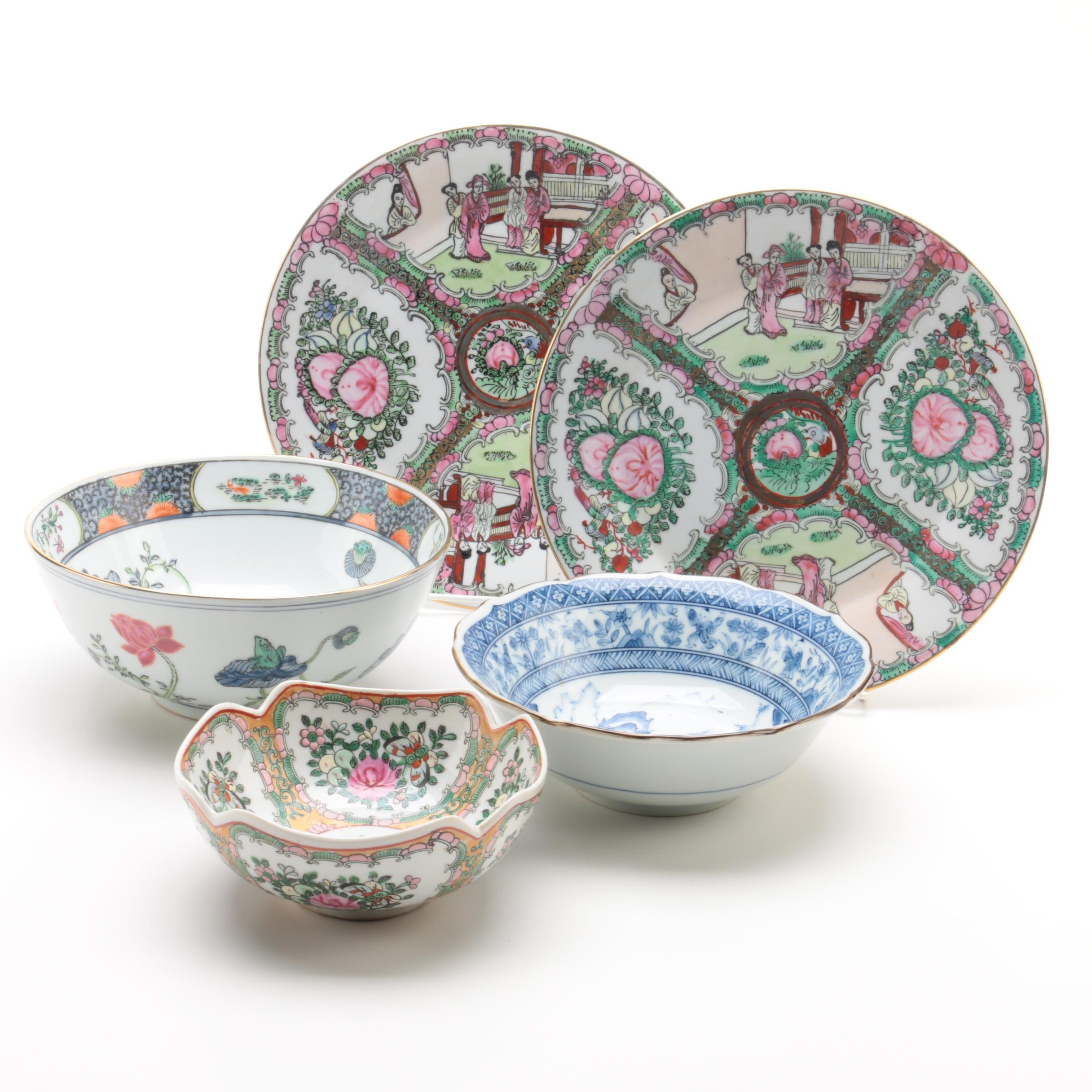 Decorative Chinese and Japanese Porcelain Tableware