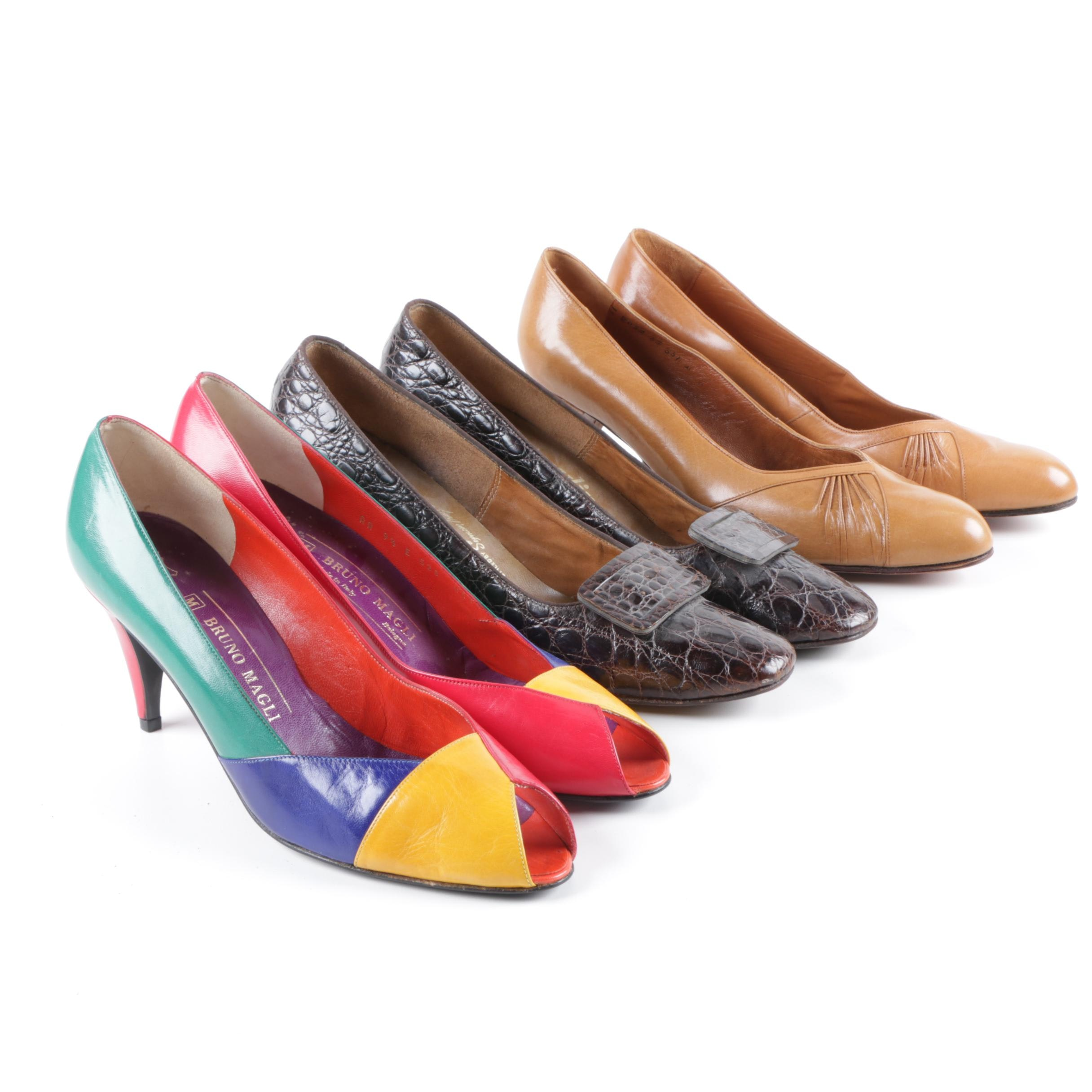 Women's Vintage Heels Including Bruno Magli