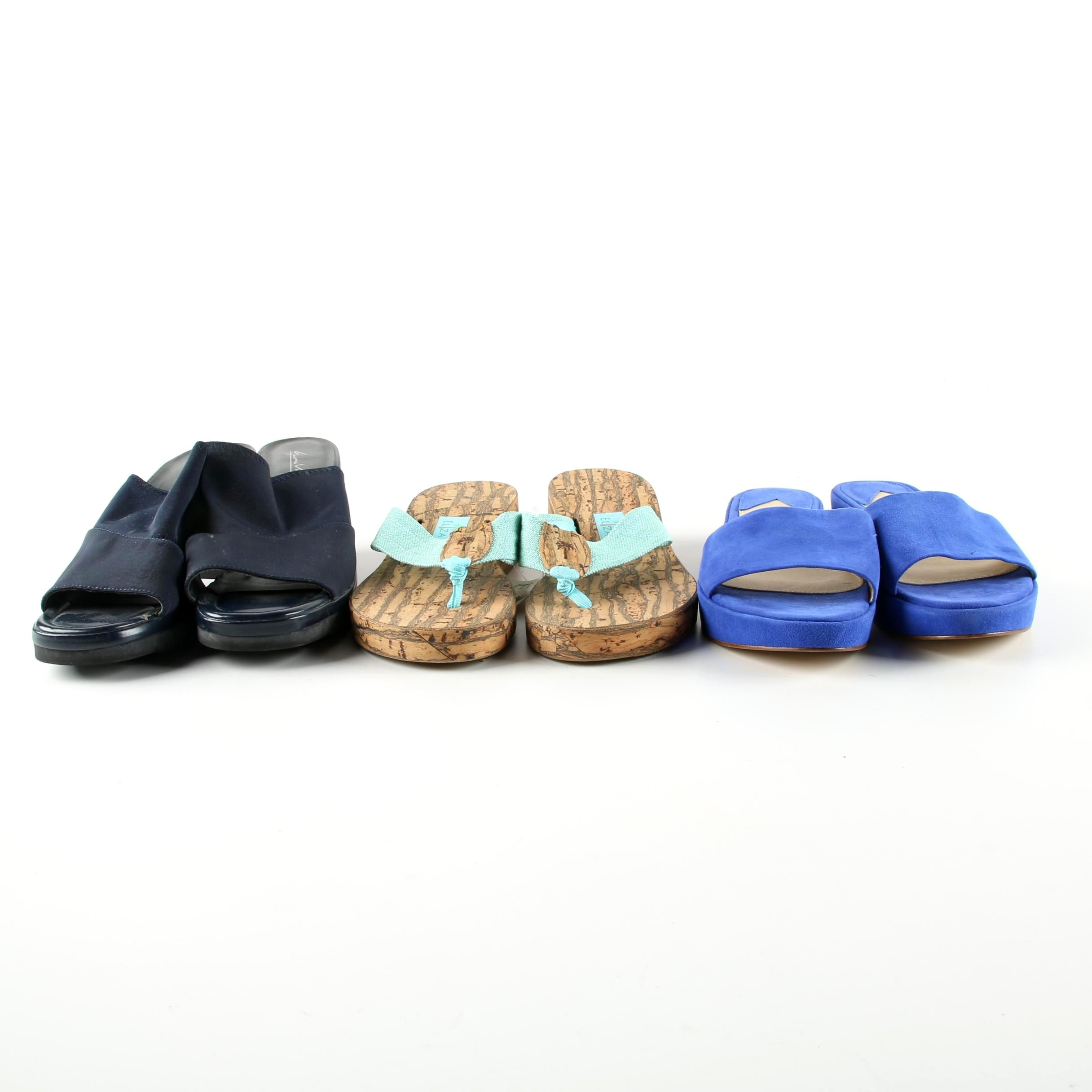 Women's Slides and Sandals Including Gloria Vanderbilt and Eliza B.