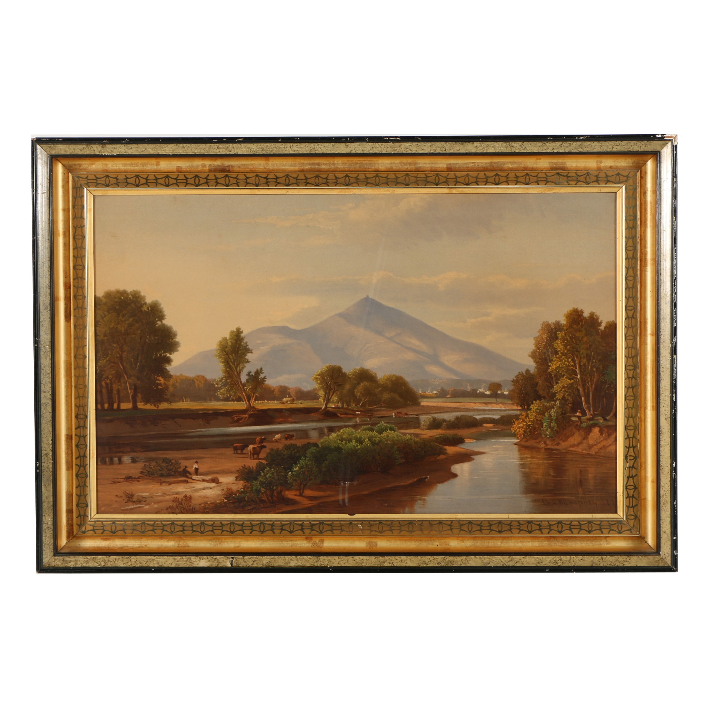 "Chromolithograph After Benjamin Champney ""Mount Kearsarge"""