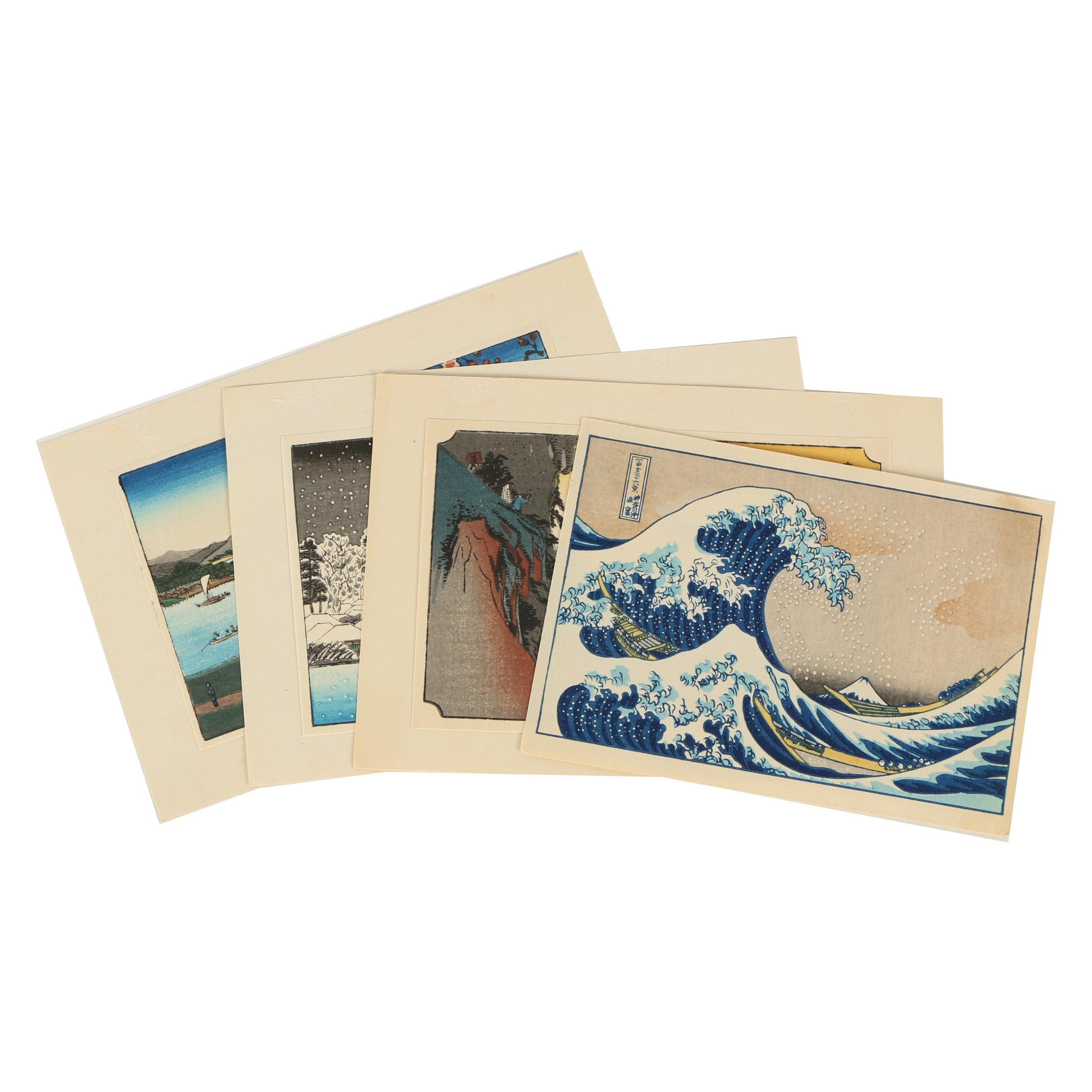 20th Century Reproduction Woodblock Prints