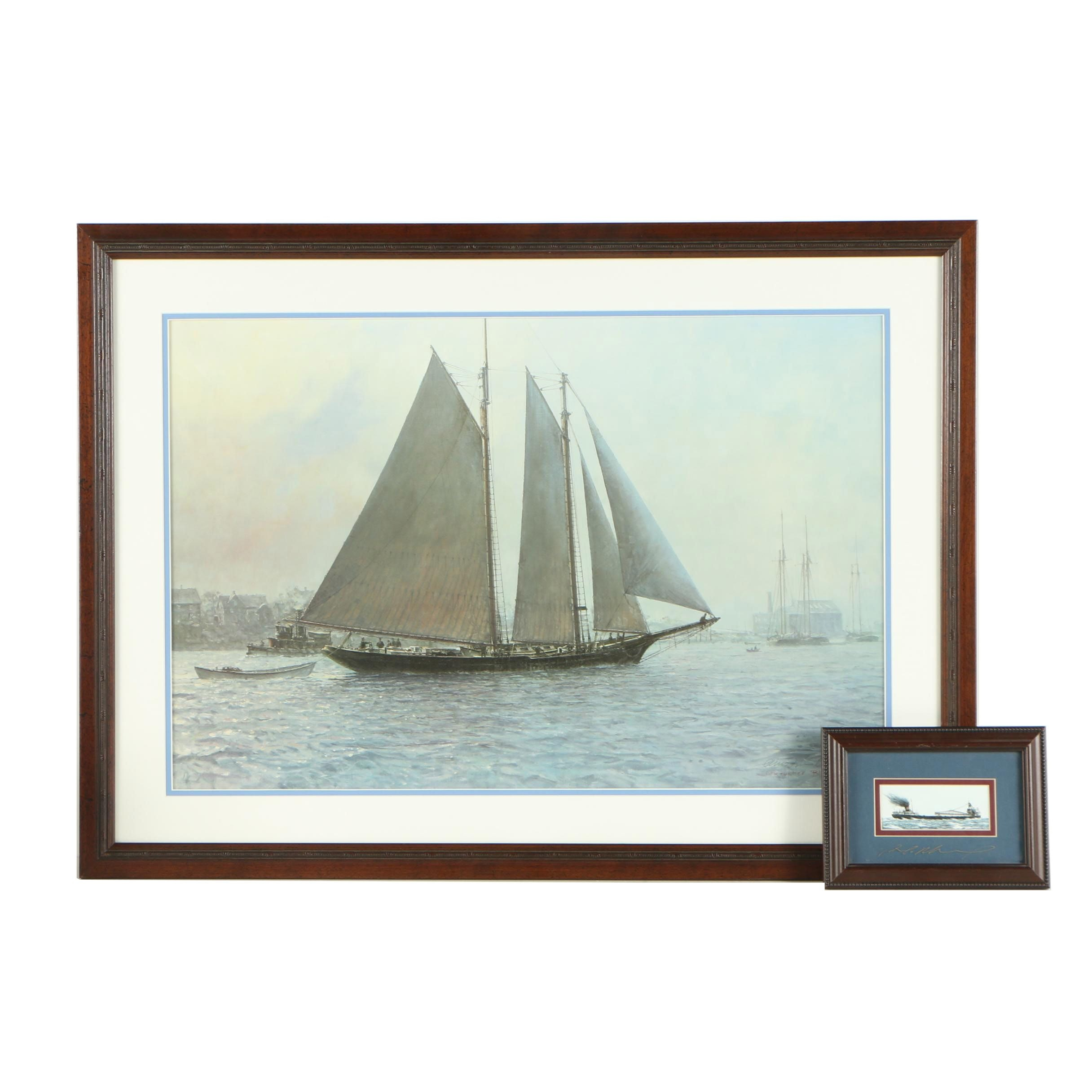 Christopher Blossom and Ben Richmond Offset Lithographs of Maritime Scenes