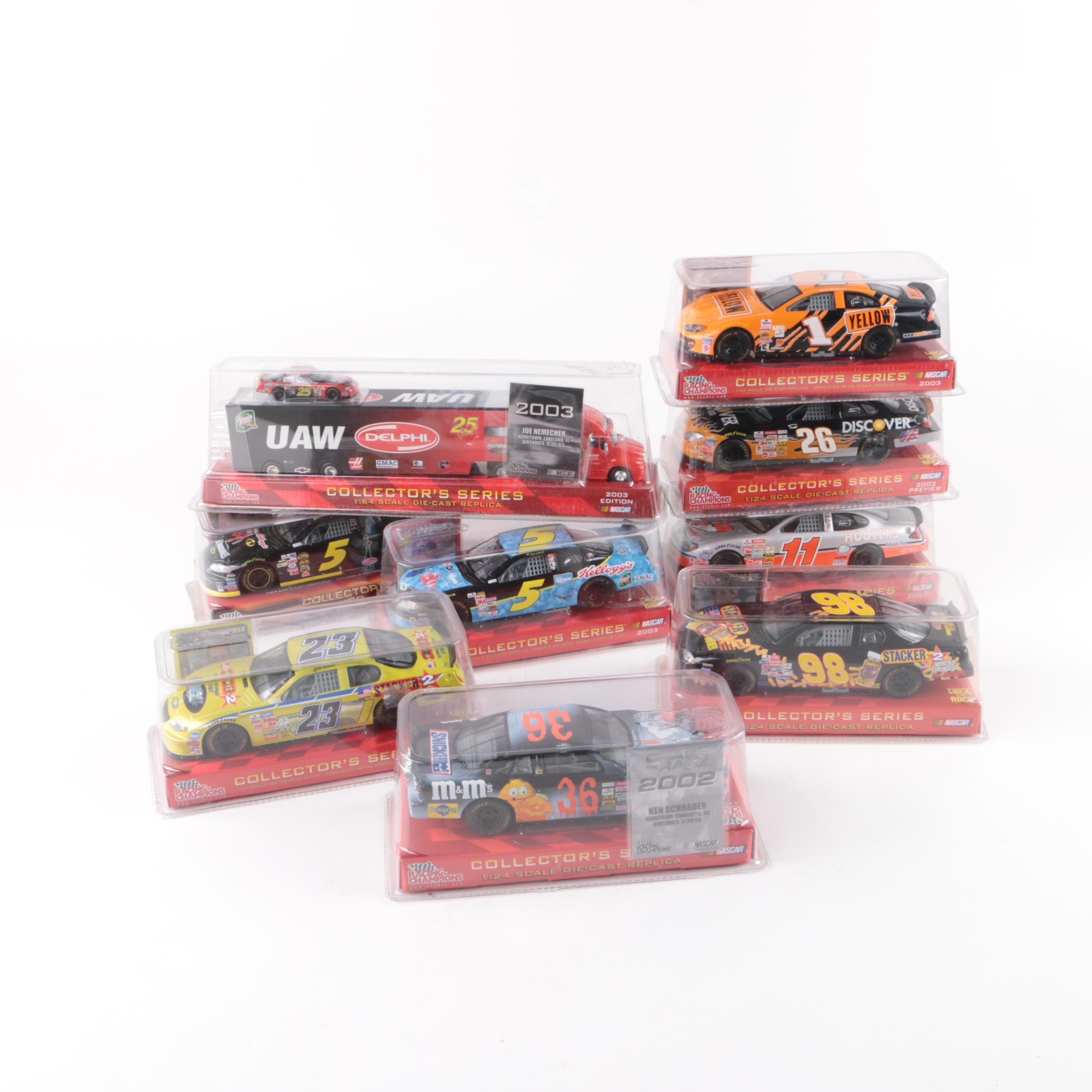 Racing Champions Die-Cast NASCAR Stock Cars