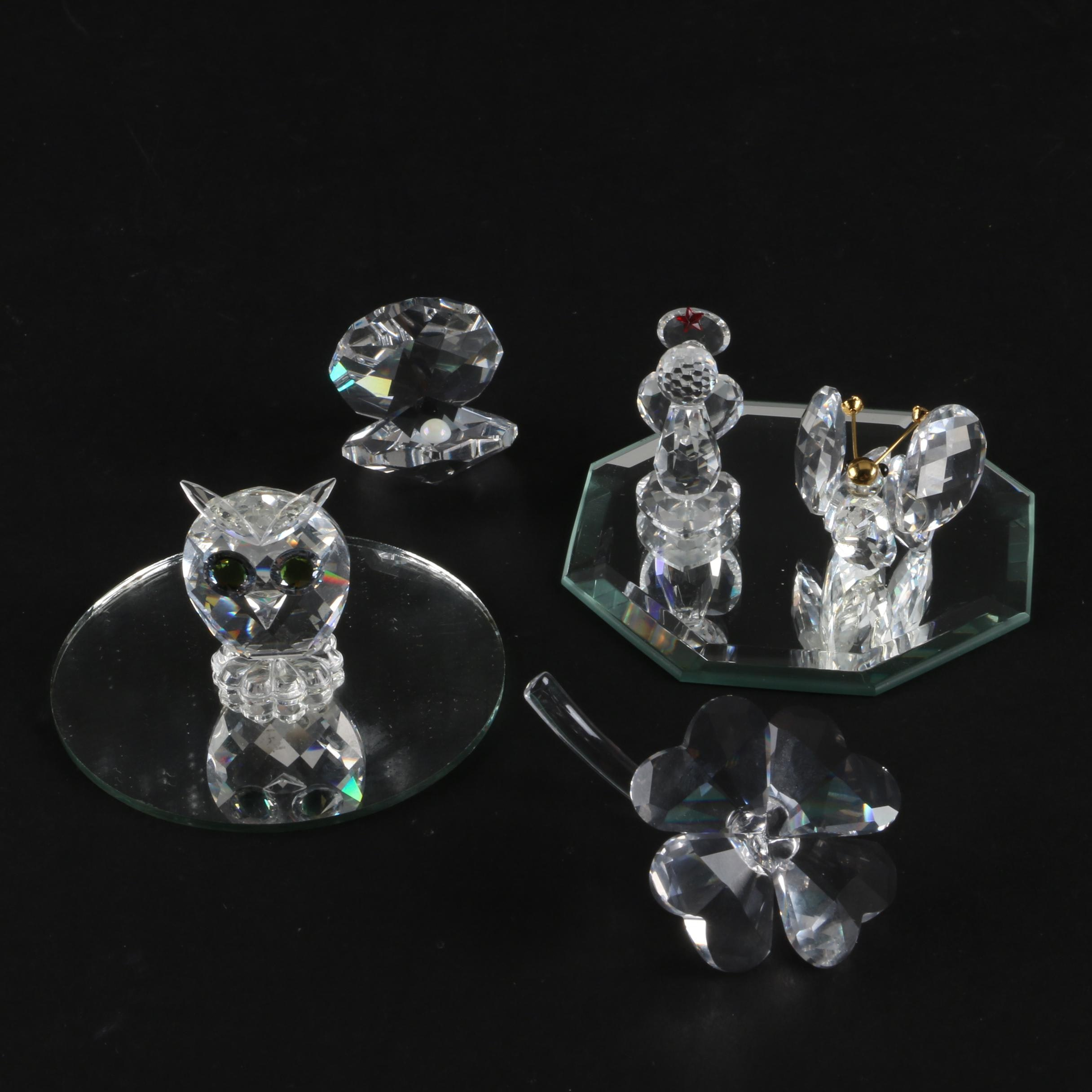 Crystal Figurines featuring Swarovski Butterfly