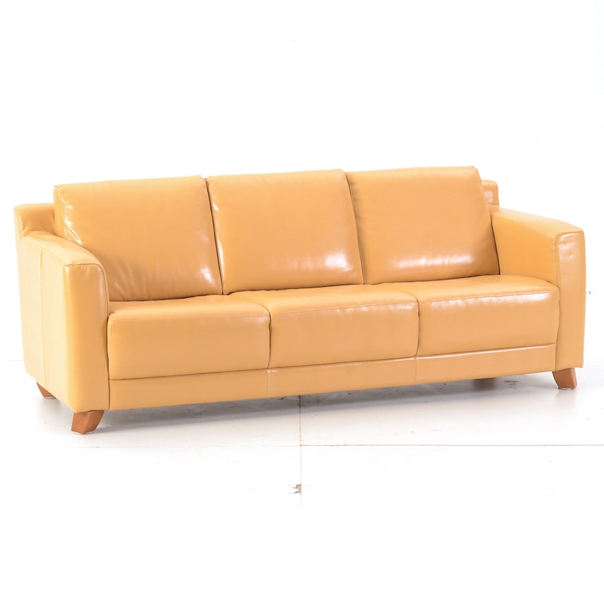 Groovy Italian Leather Sofa By Nicoletti Ncnpc Chair Design For Home Ncnpcorg