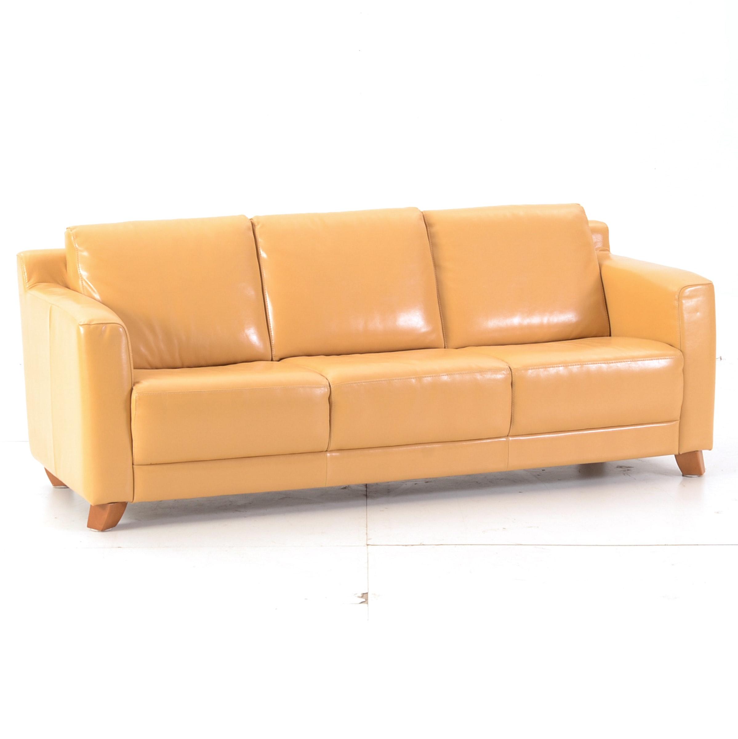Italian Leather Sofa By Nicoletti ...