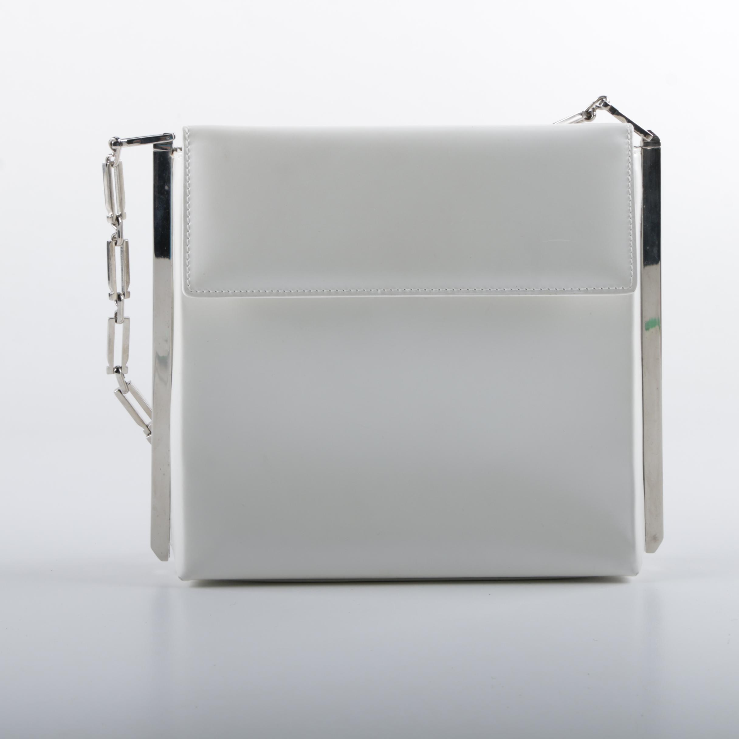 Salvatore Ferragamo White Leather Shoulder Bag