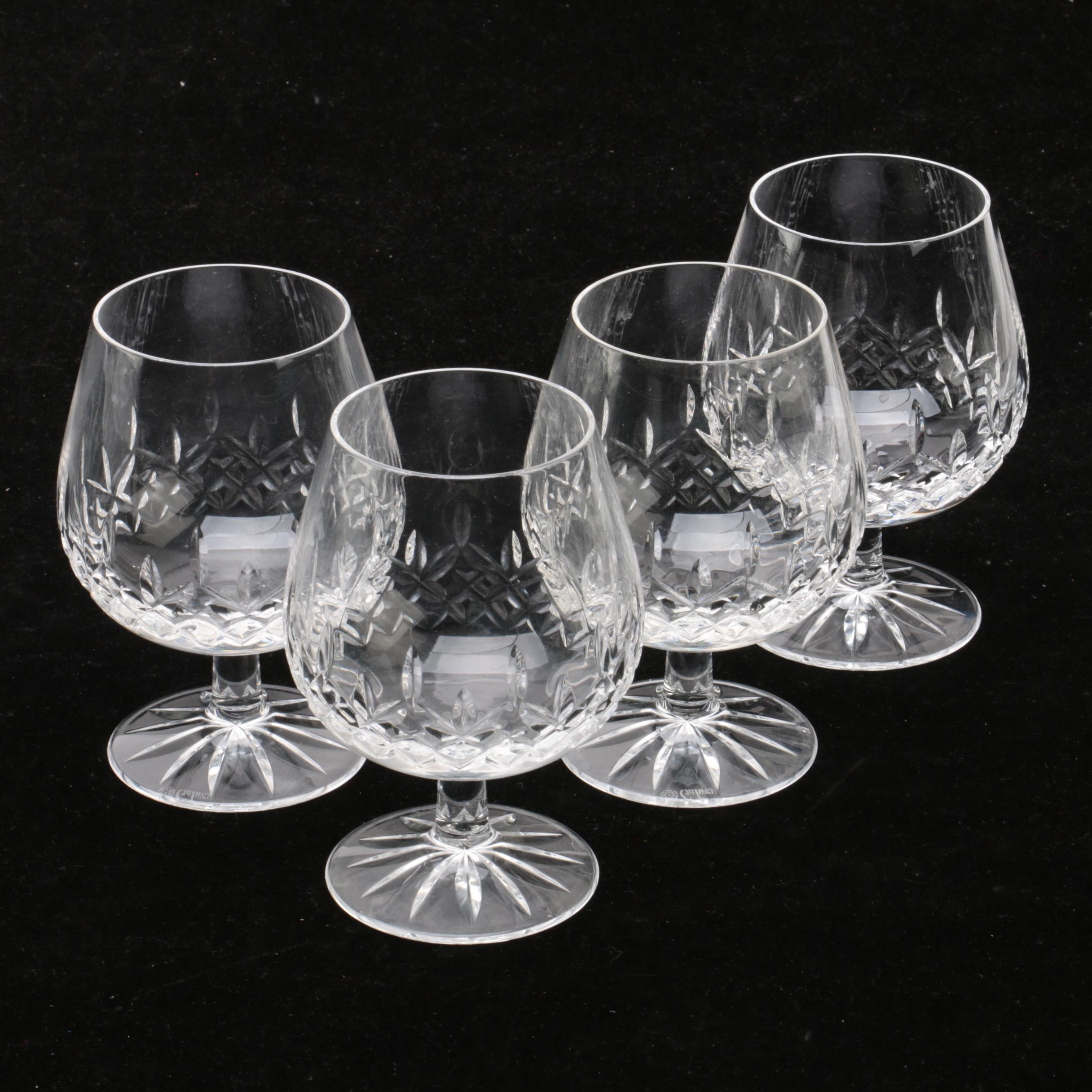 """Galway Crystal """"Clifden"""" Brandy Snifter Glasses"""