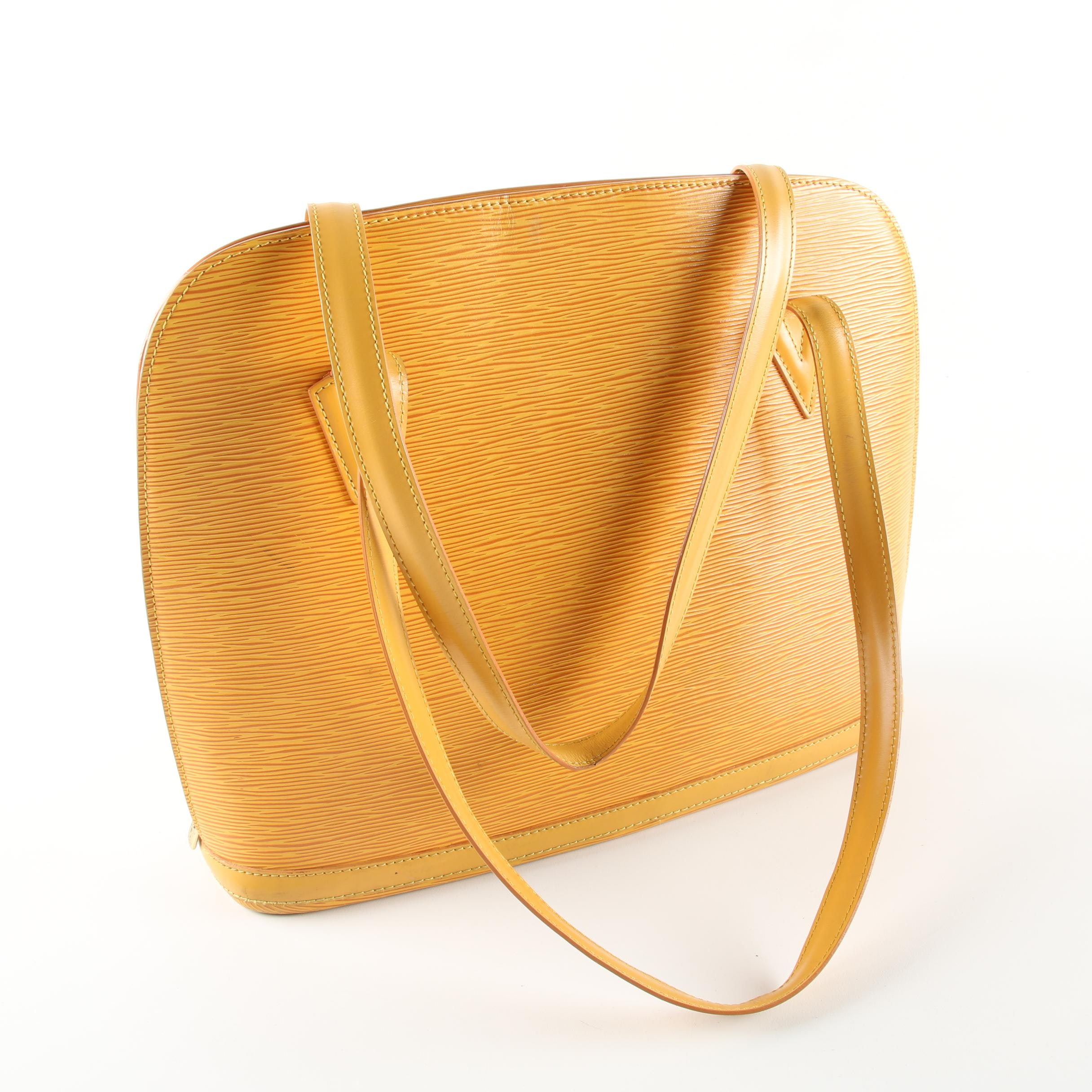 Louis Vuitton Tassil Yellow Epi Leather Lussac Shoulder Bag