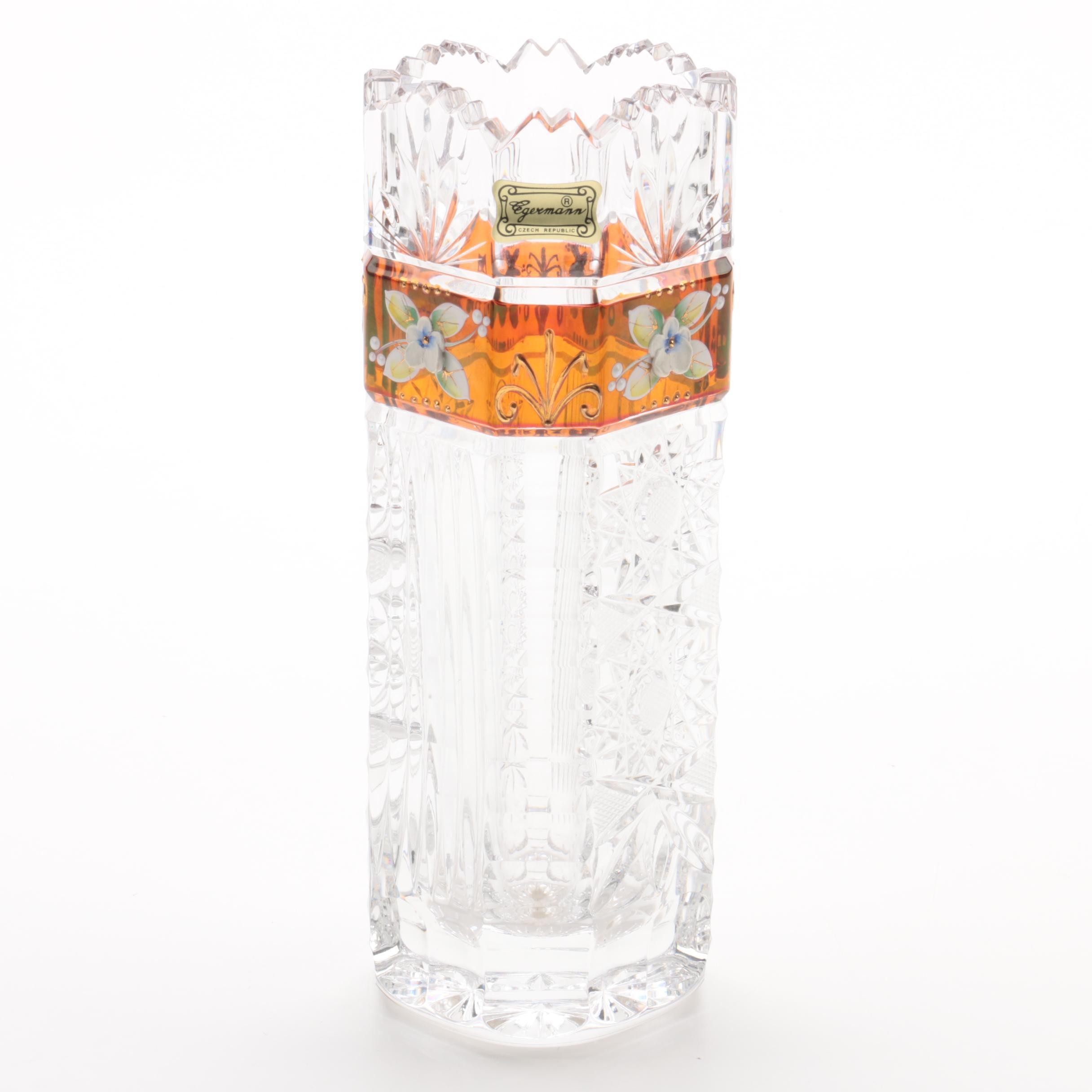 Egermann Czech Republic Crystal Vase