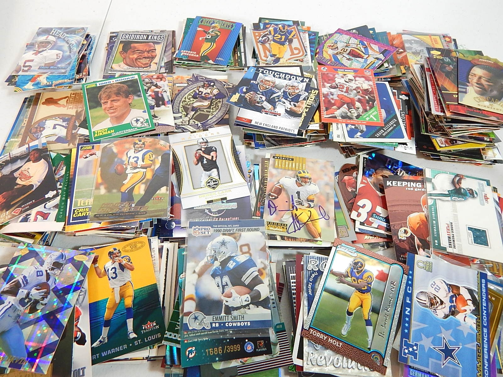 Star and Hall of Fame Football Card Collection with Over a Few 100 Cards