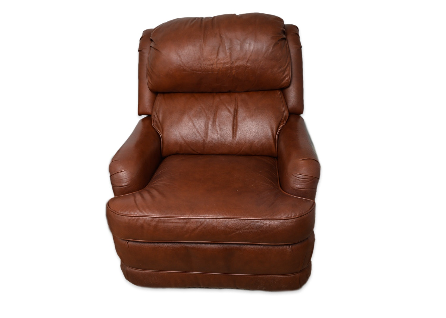 Brown Leather Recliner by Barcalounger