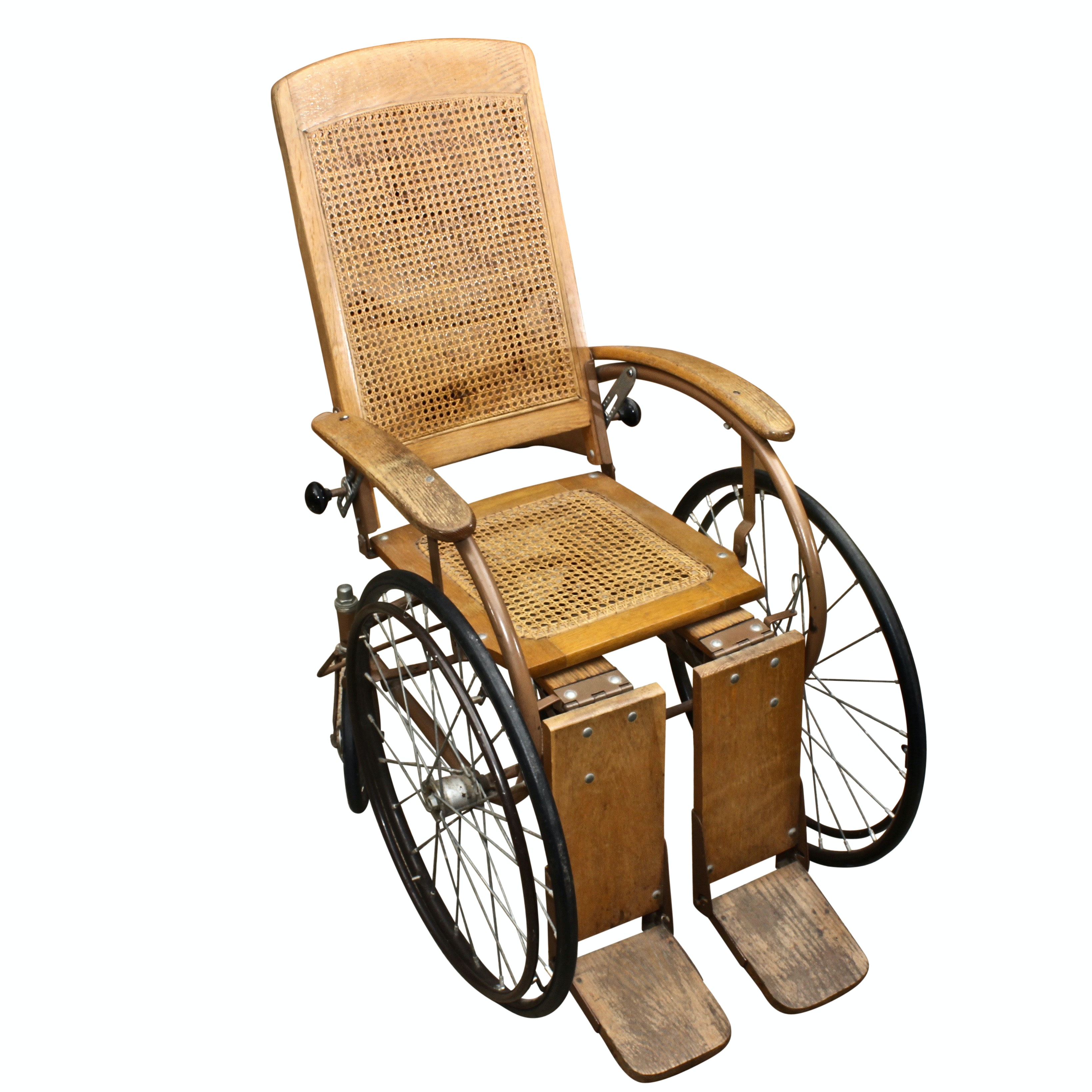 Antique Oak Wood Wheelchair