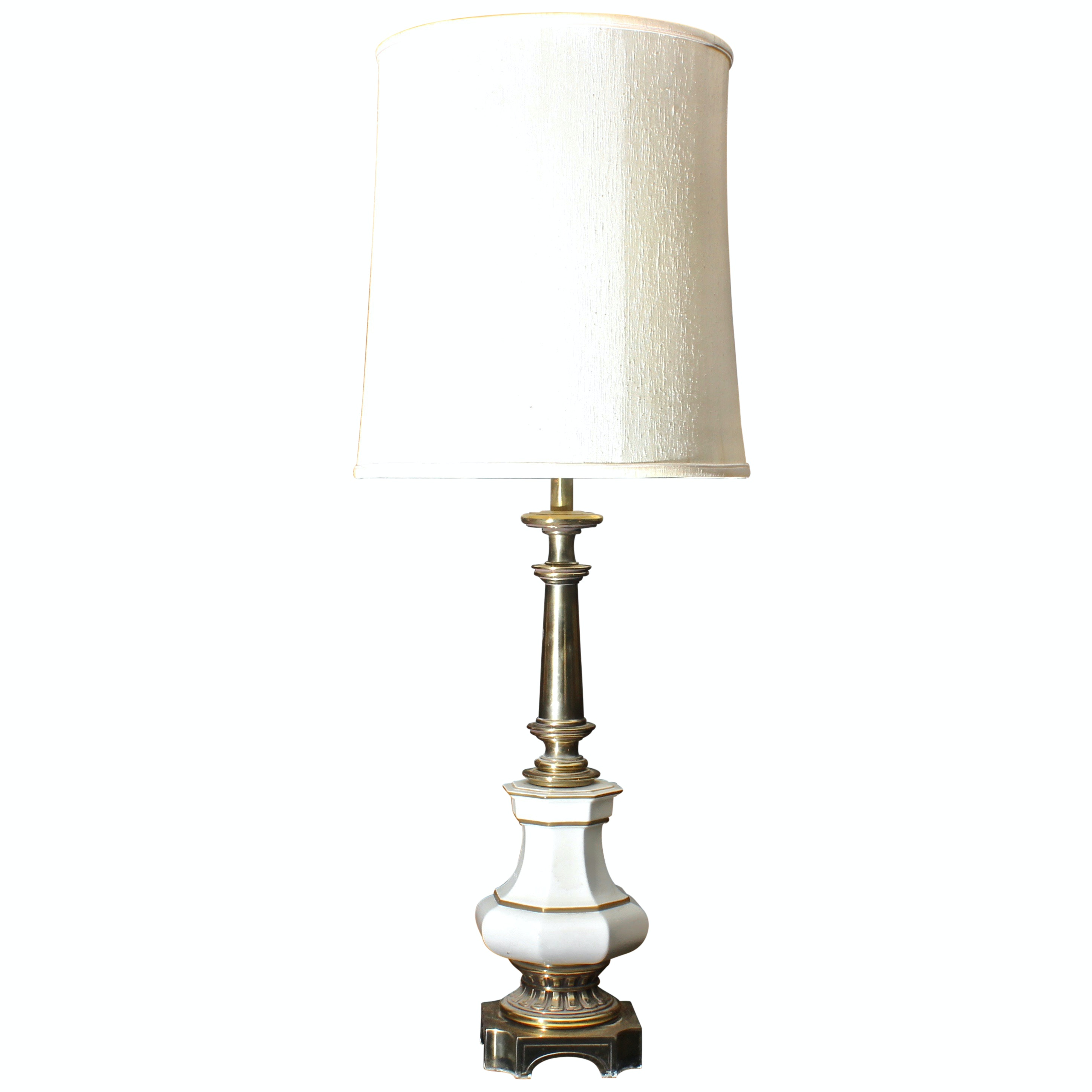 Vintage Porcelain And Brass Table Lamp